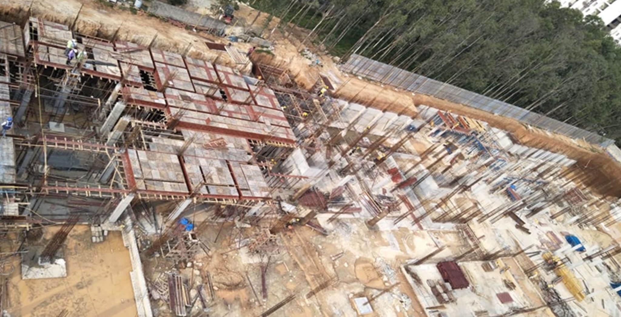 Oct 2019 - Q and S Blocks: Ground floor shuttering work-in-progress