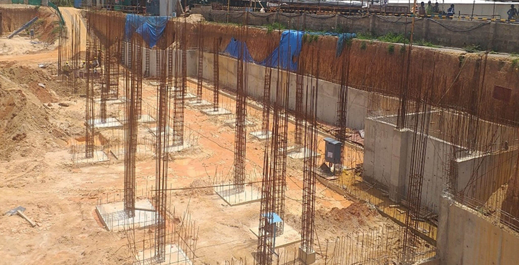 Oct 2019 - D and E Blocks: Footings work-in-progress