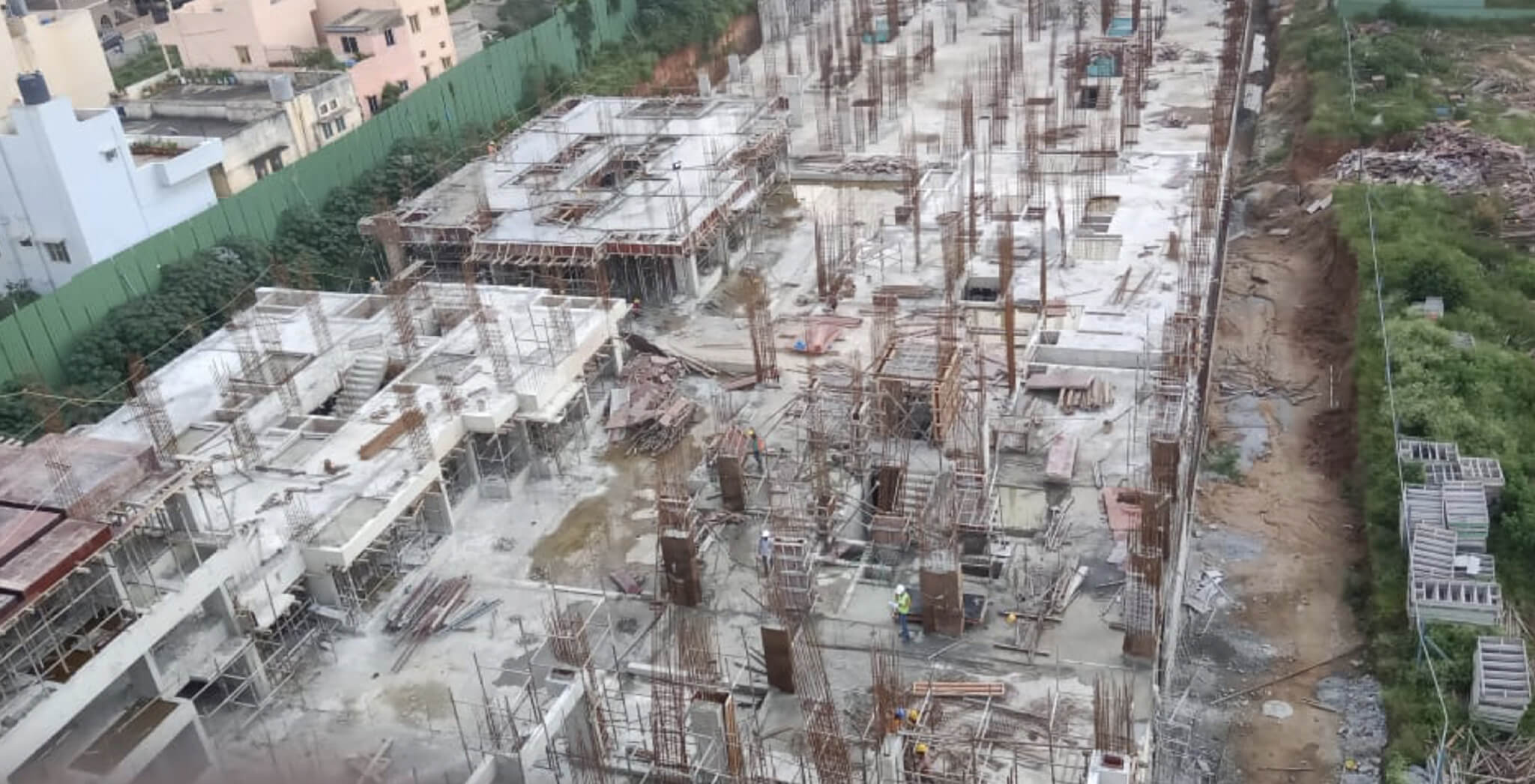 Nov 2019 - Tower D: Wings Q and R—1st Floor slab completed; Wings G, H—Ground floor to 1st floor column work-in-progress.