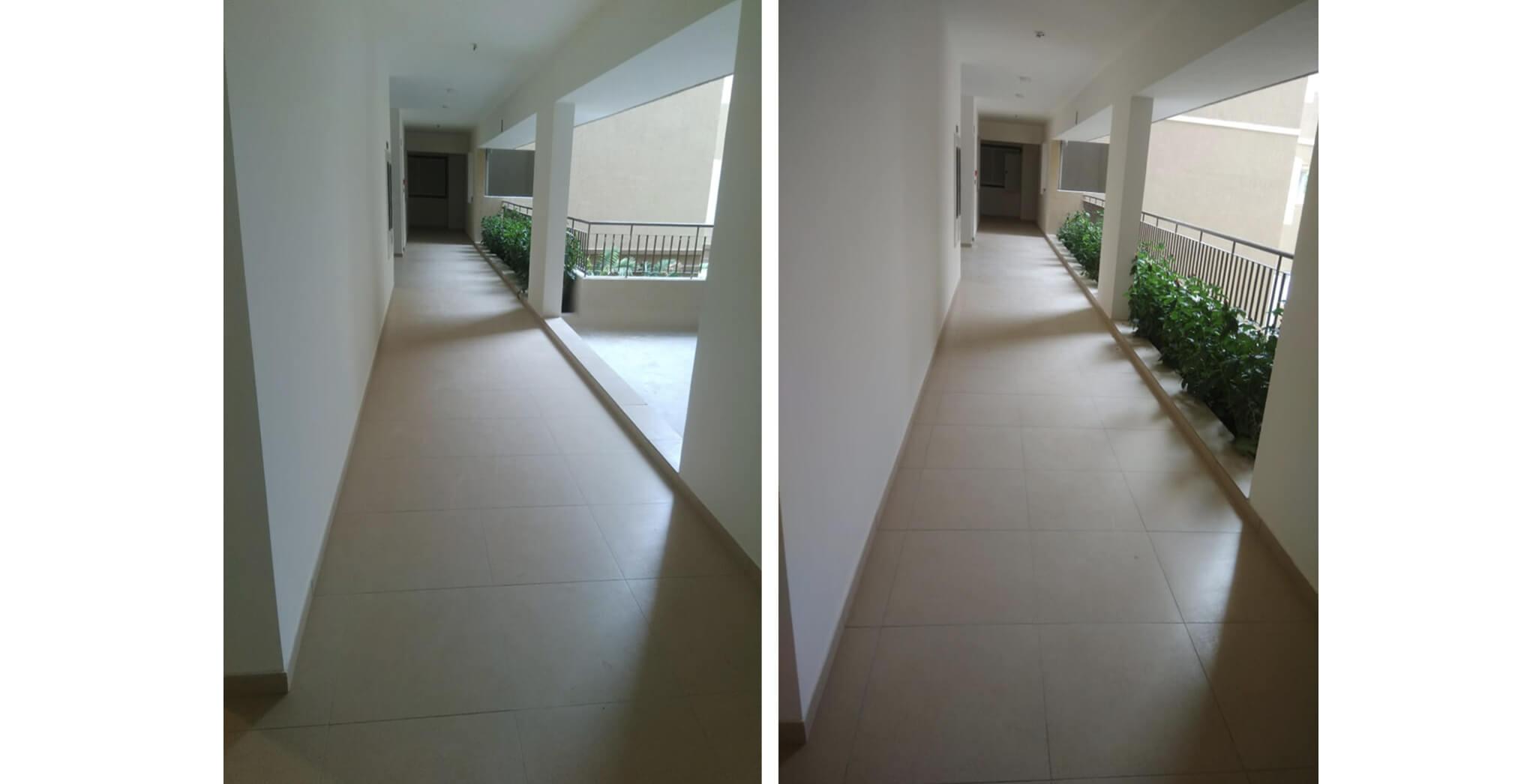 Nov 2019 - Deodar—B block: Corridor–Final coat, painting completed