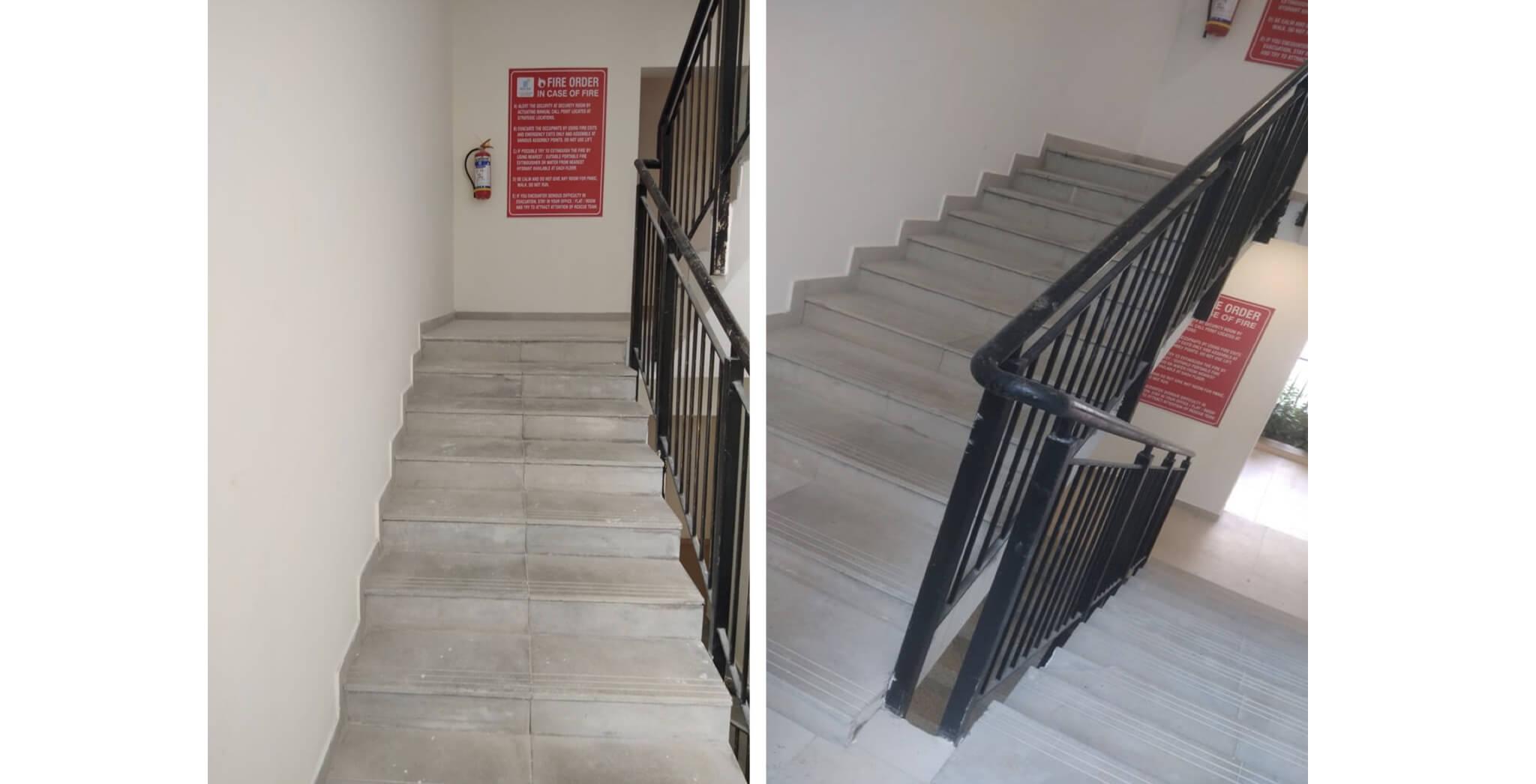 Nov 2019 - Deodar—B block: Staircase—Final coat of paint work-in-progress