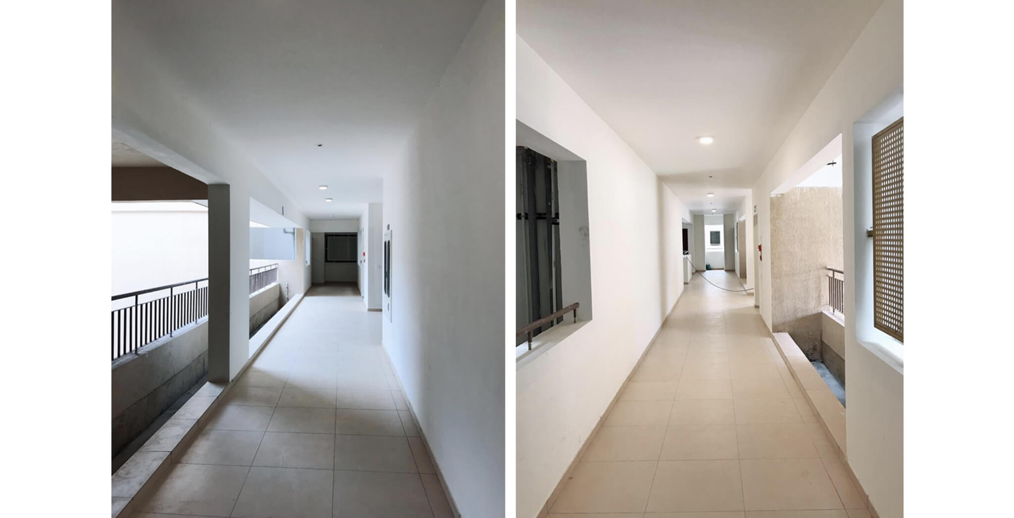 Nov 2019 - Deodar—C block: Corridor–Final coat of paint work-in-progress