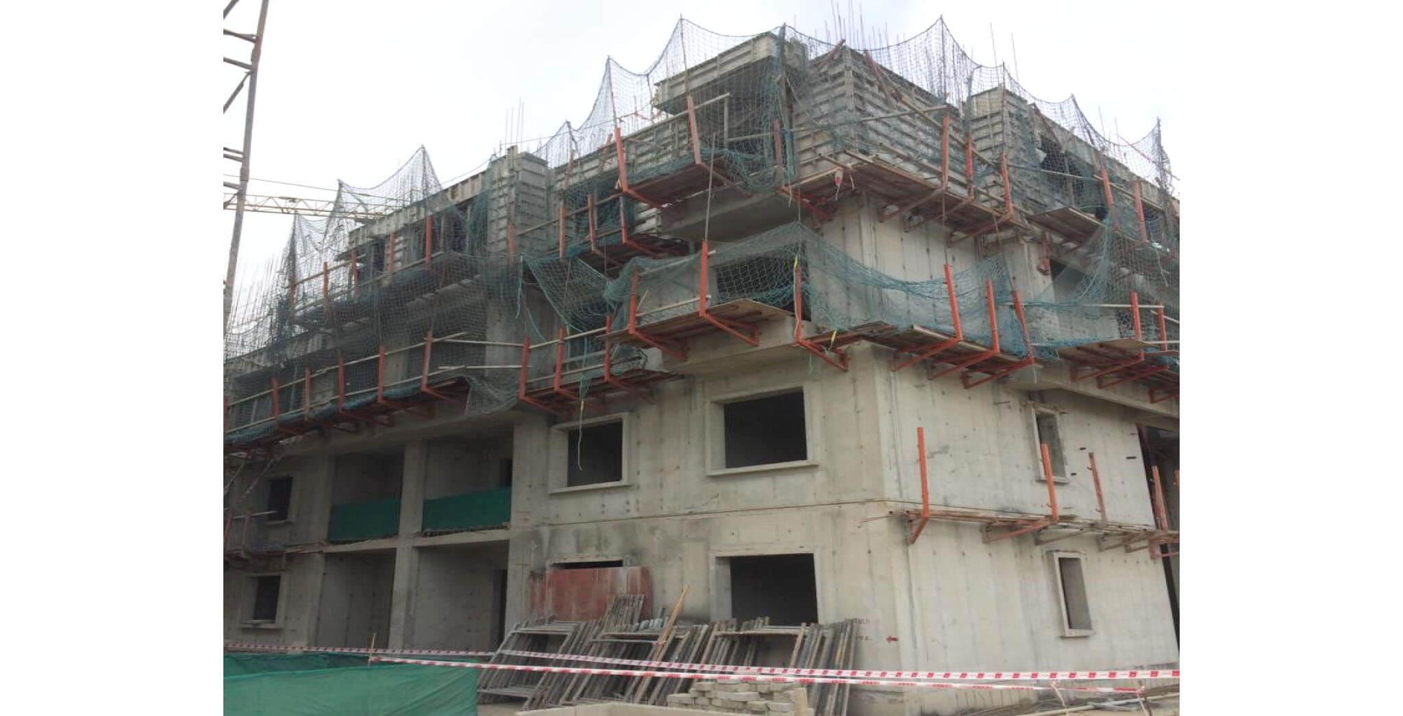 Jan 2020 - M Block: Fourth floor slab work-in-progress