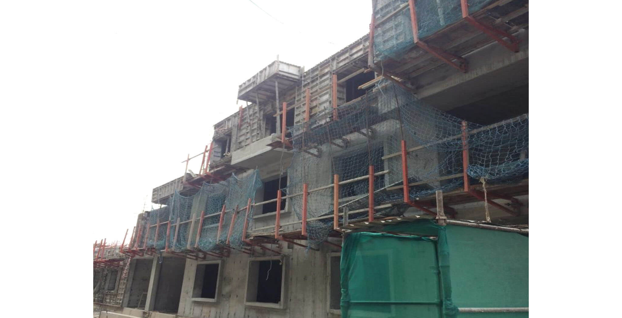 Jan 2020 - N Block: Second floor slab work-in-progress
