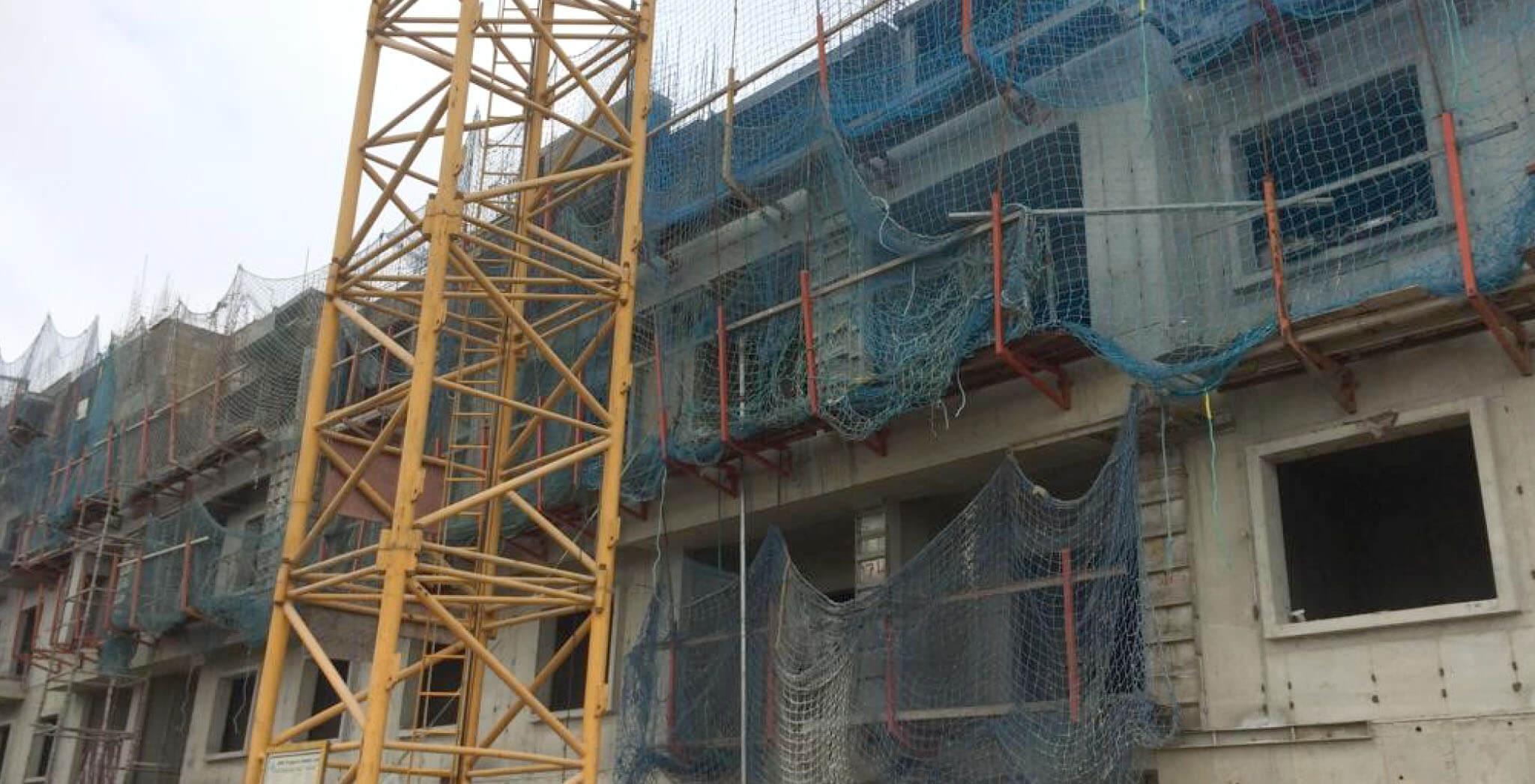 Jan 2020 - T Block: Fourth floor slab work-in-progress