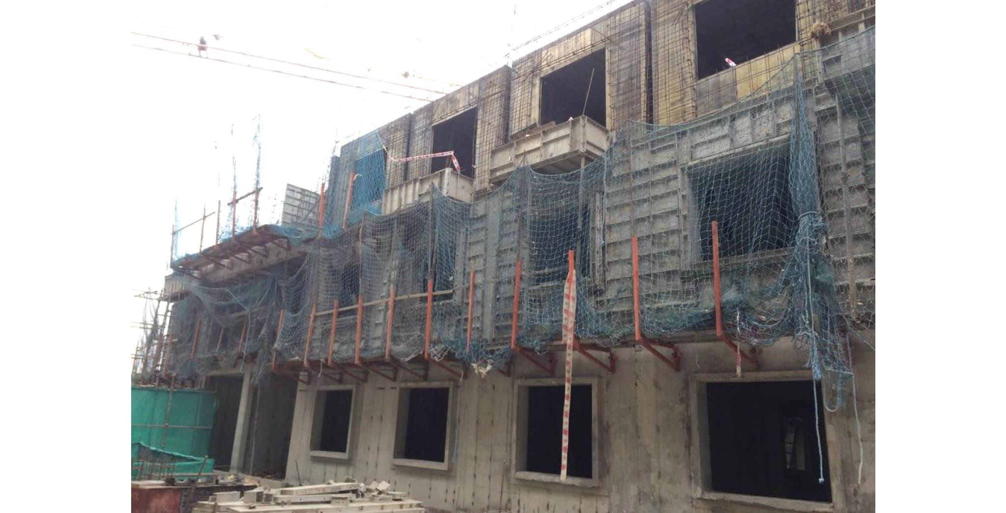 Jan 2020 - P Block: Second floor slab work-in-progress