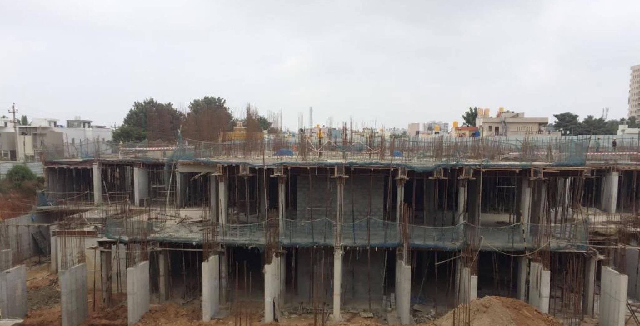 Jan 2020 - L Block: Ground floor slab work in progress