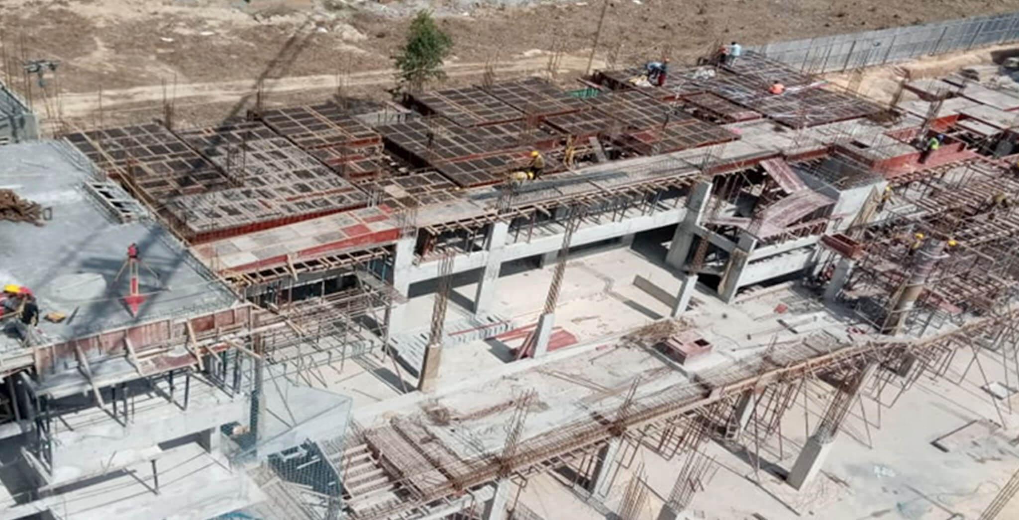 Jan 2020 - Q Block: Second floor slab shuttering & rebar work-in-progress
