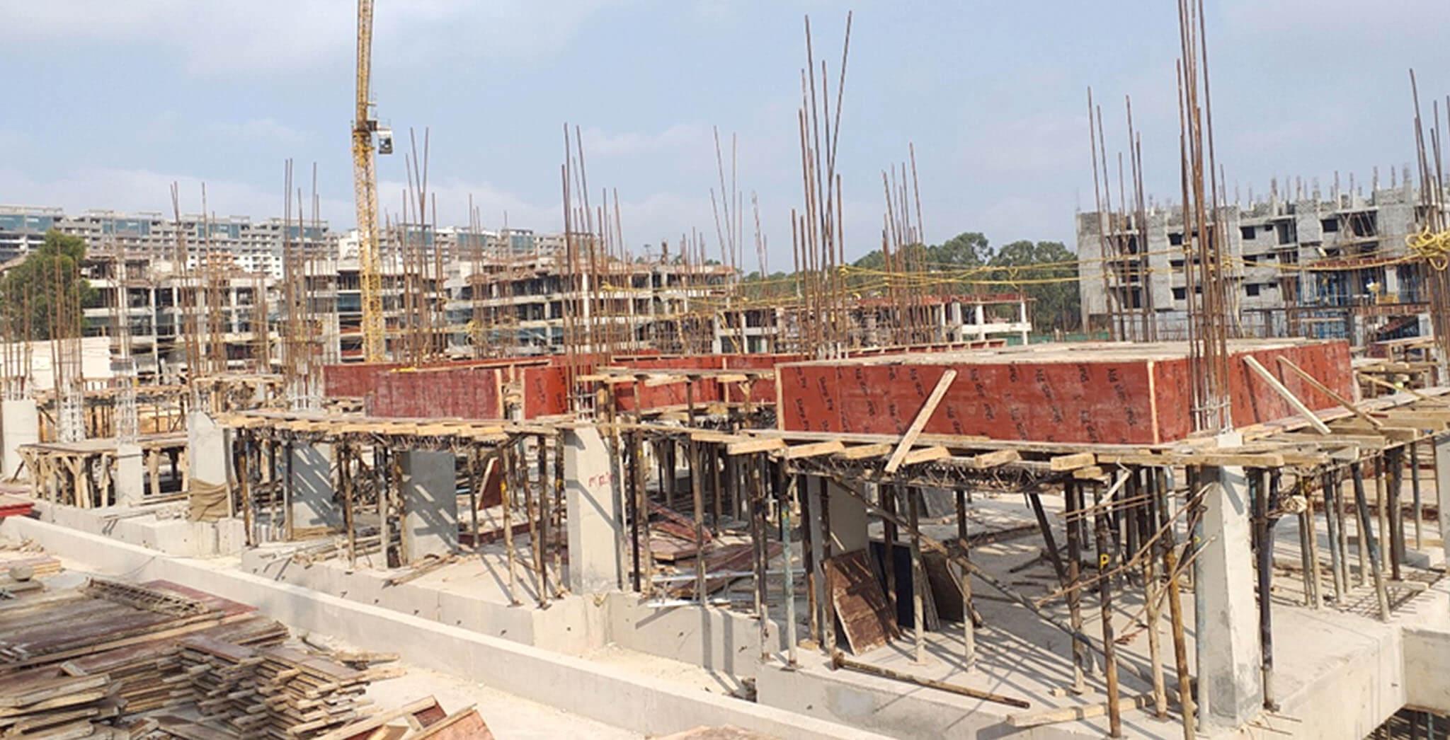 Jan 2020 - E Block: 1st floor shuttering in progress