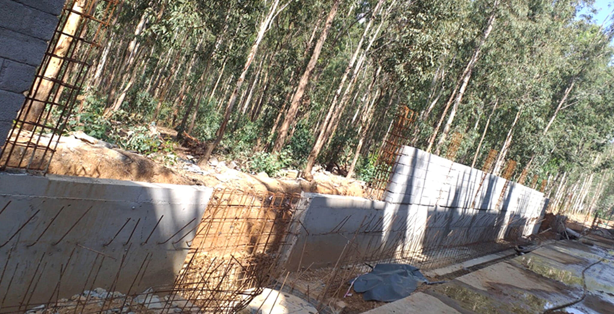 Jan 2020 - West side compound wall remaining 15rmt wall concreting in progress