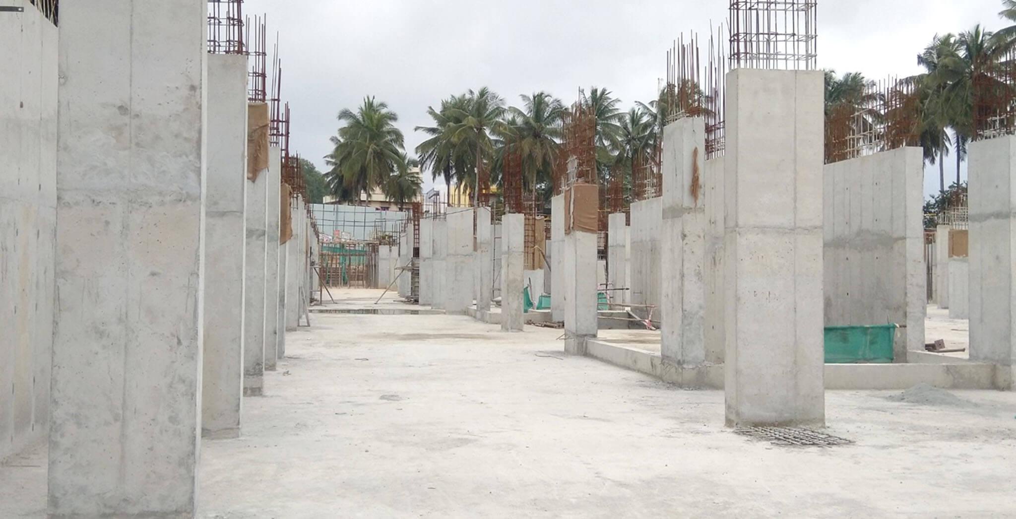 Jan 2020 - Tower-B: Upper basement to ground floor column work-in-progress.