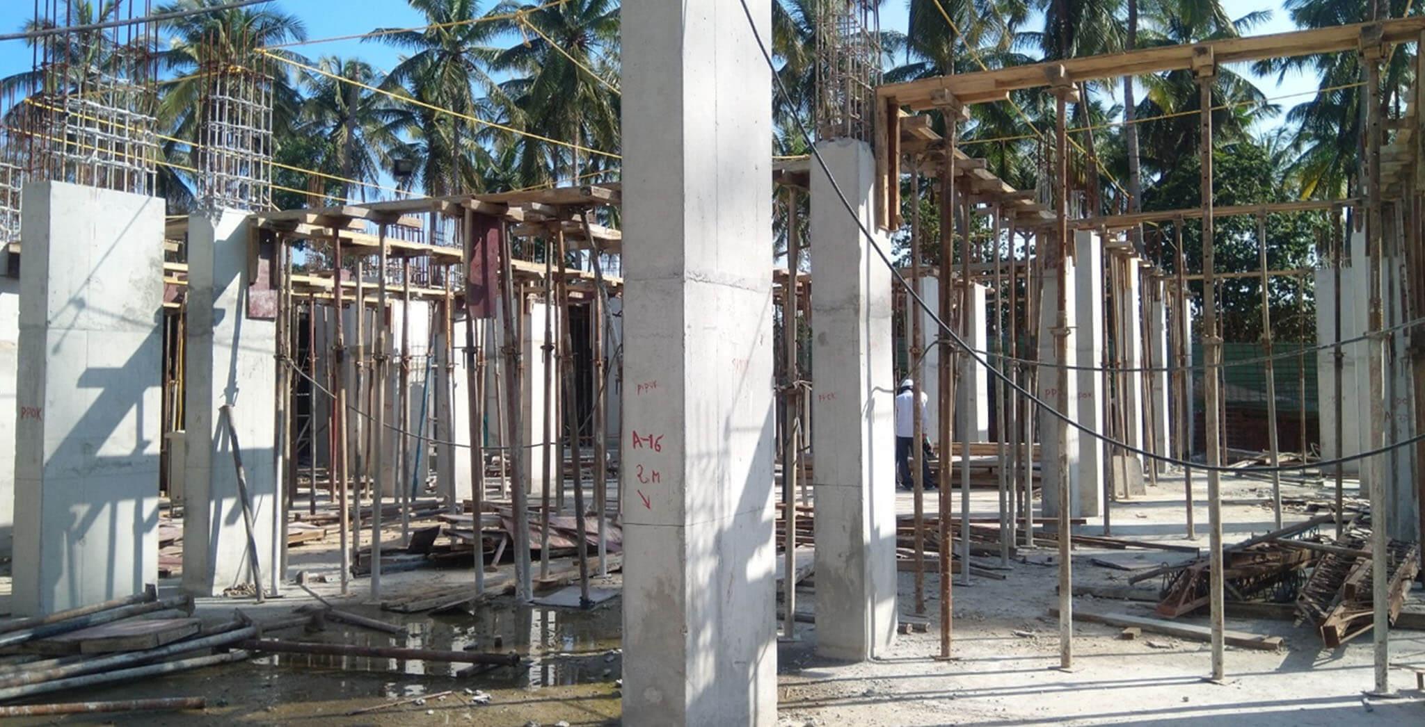 Jan 2020 - Tower-A: Wing B ground floor slab work-in-progress.