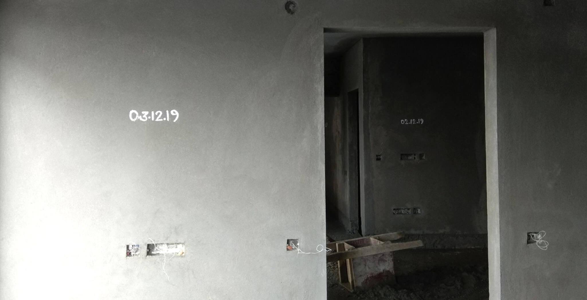 Jan 2020 - Tower-F: Plastering work-in-progress.