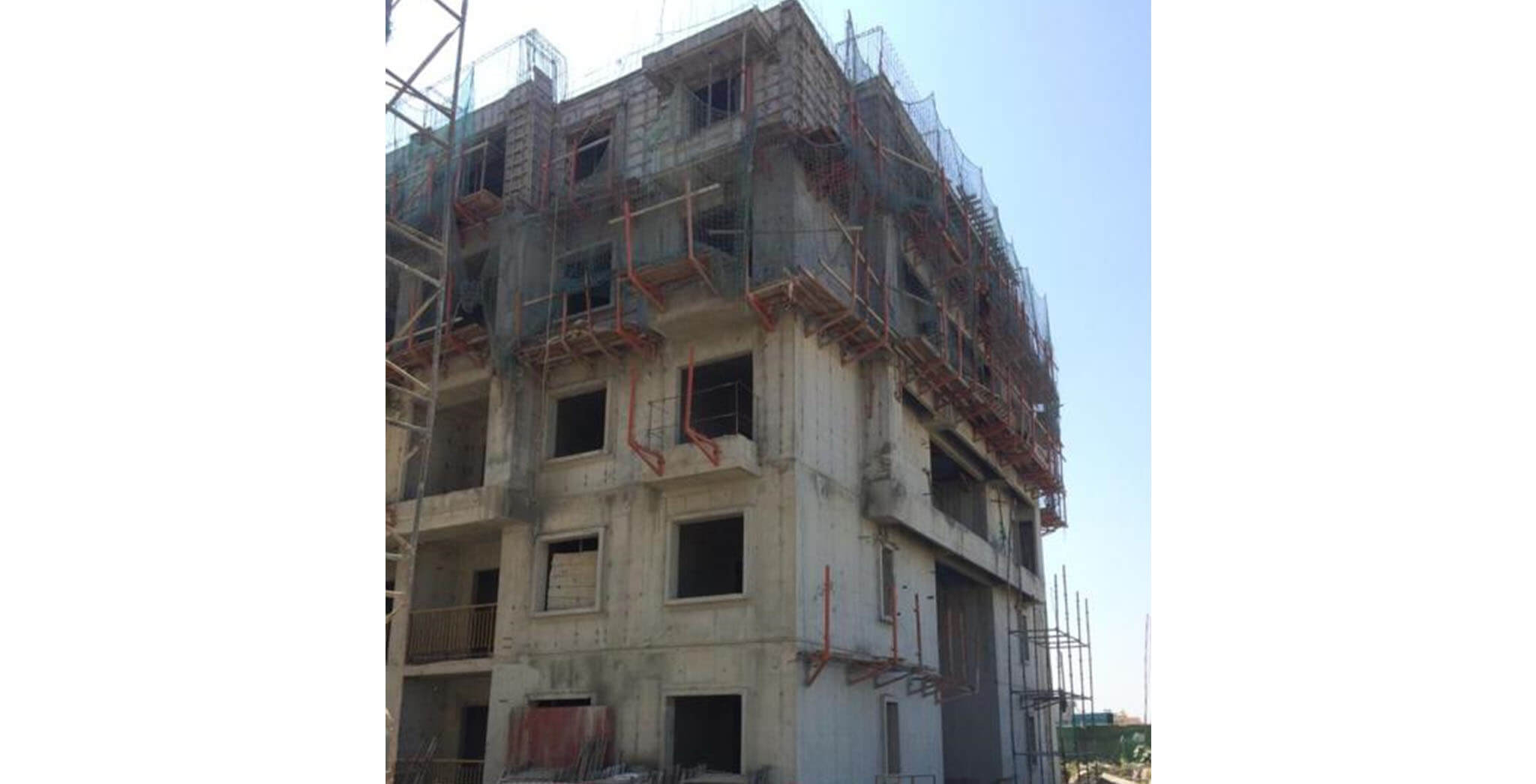 Jan 2020 - M Block: Terrace floor slab work-in-progress