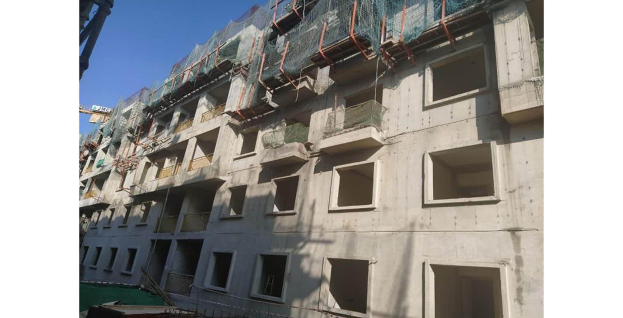Jan 2020 - S Block: Above terrace work-in-progress