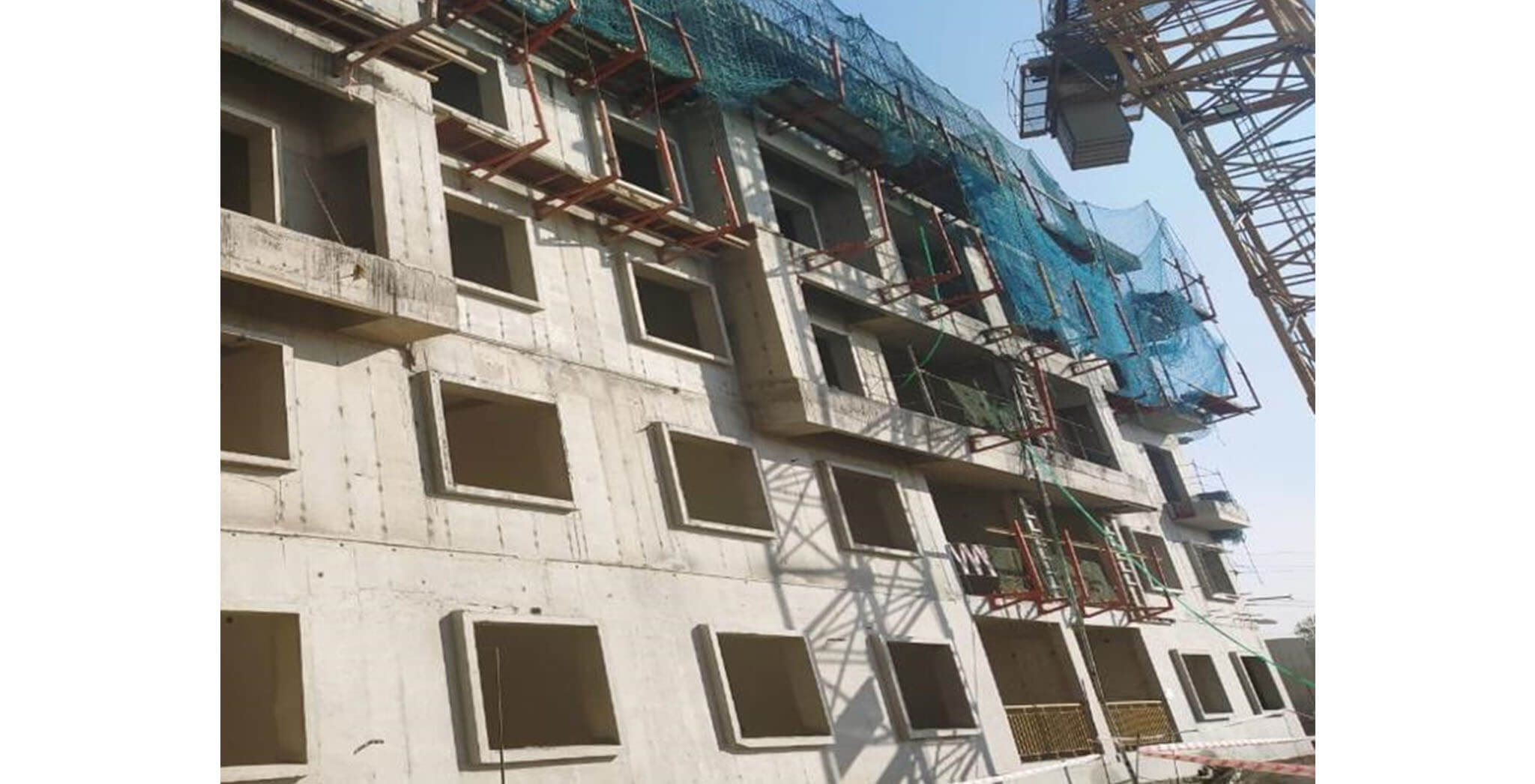 Jan 2020 - T Block: Terrace floor slab completed