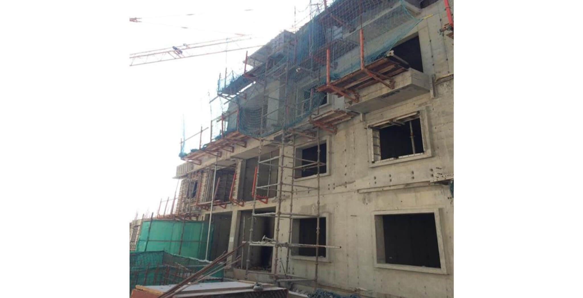 Jan 2020 - P Block: Second and Third floor slab work-in-progress