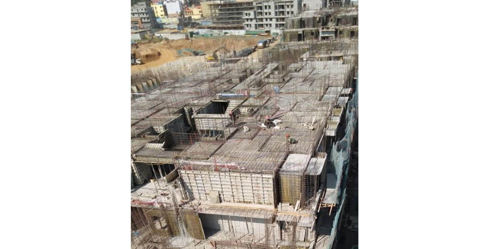 Jan 2020 - O Block: Fourth floor slab work-in-progress