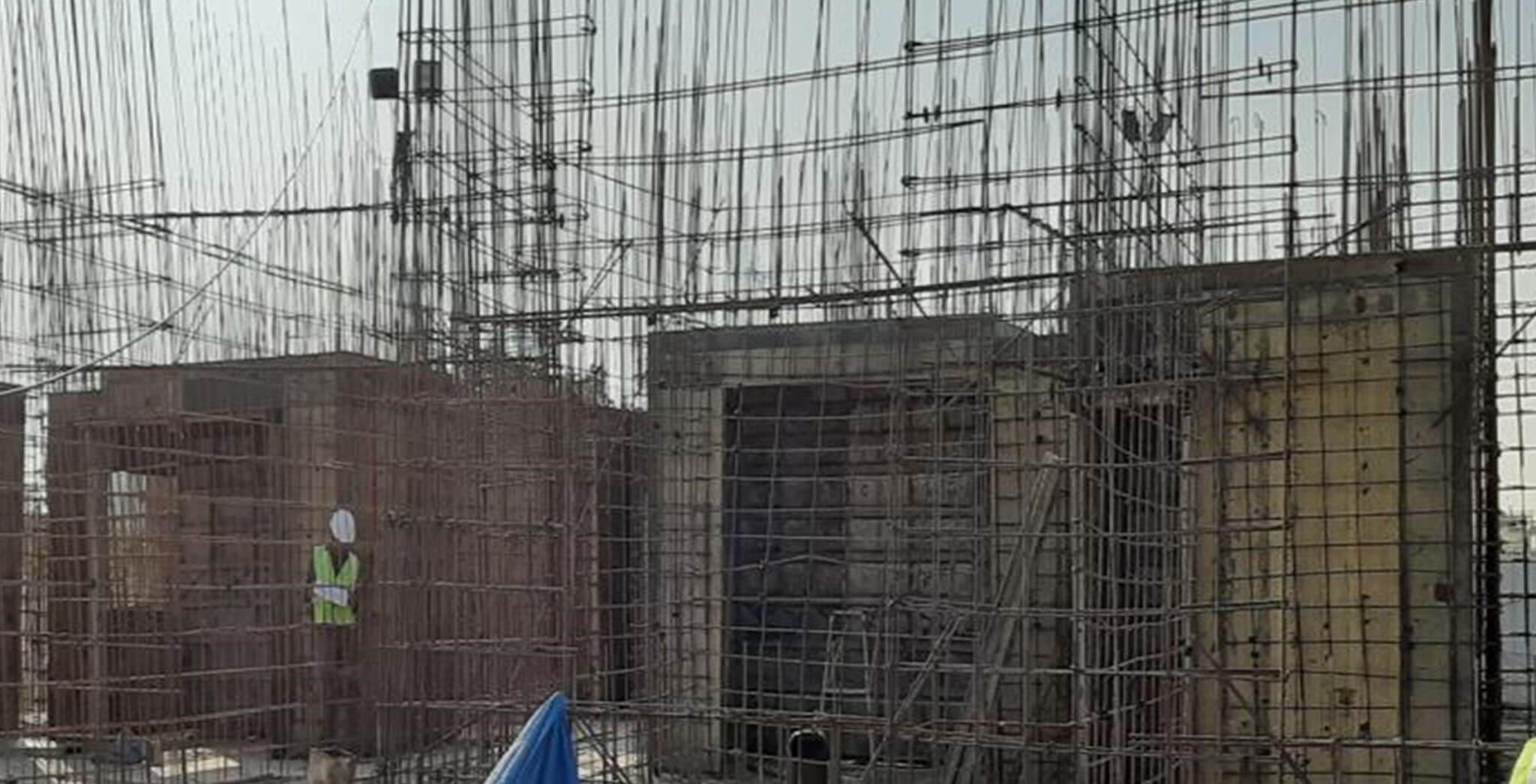 Jan 2020 - G Block: First floor slab work-in-progress