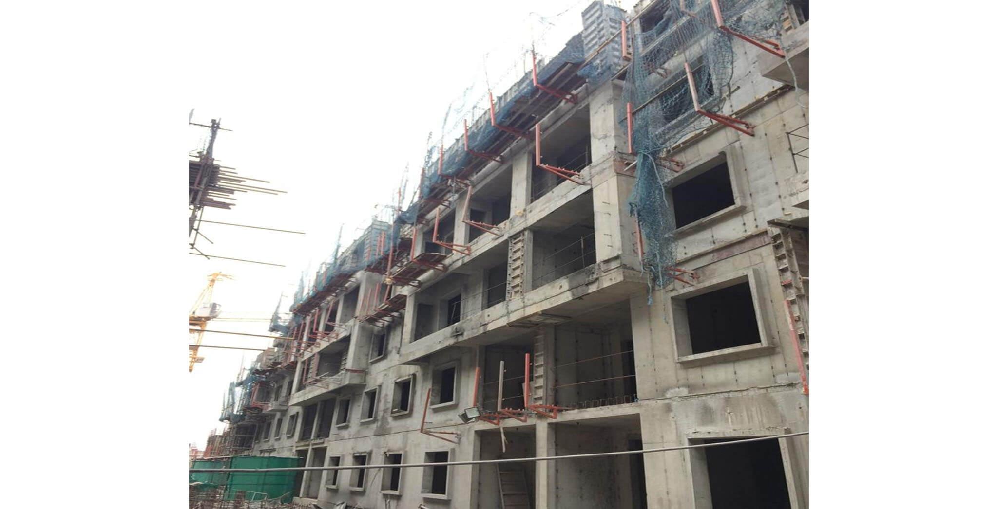 Feb 2020 - M-Block: Terrace floor slab completed