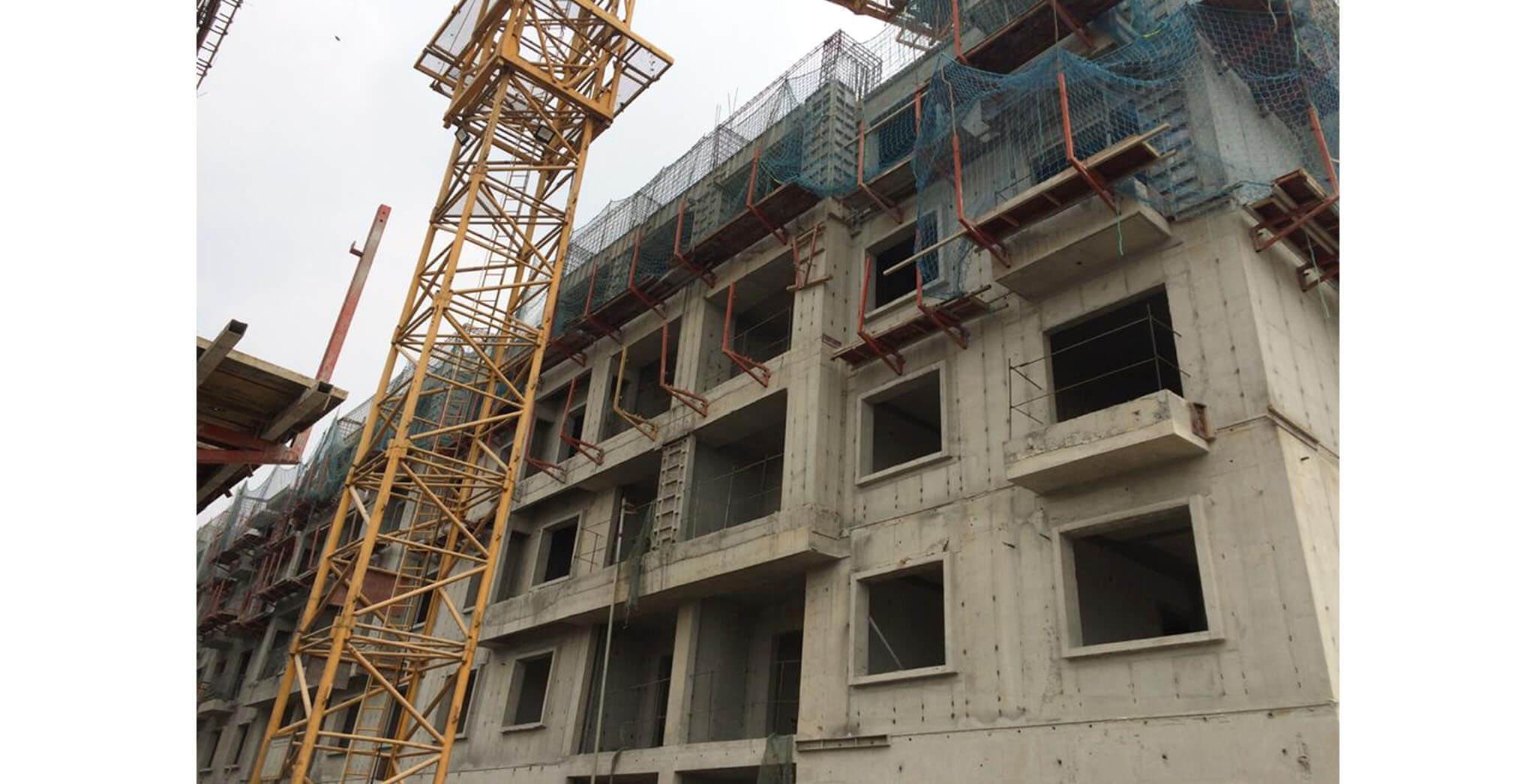 Feb 2020 - T Block: Above terrace floor work-in-progress