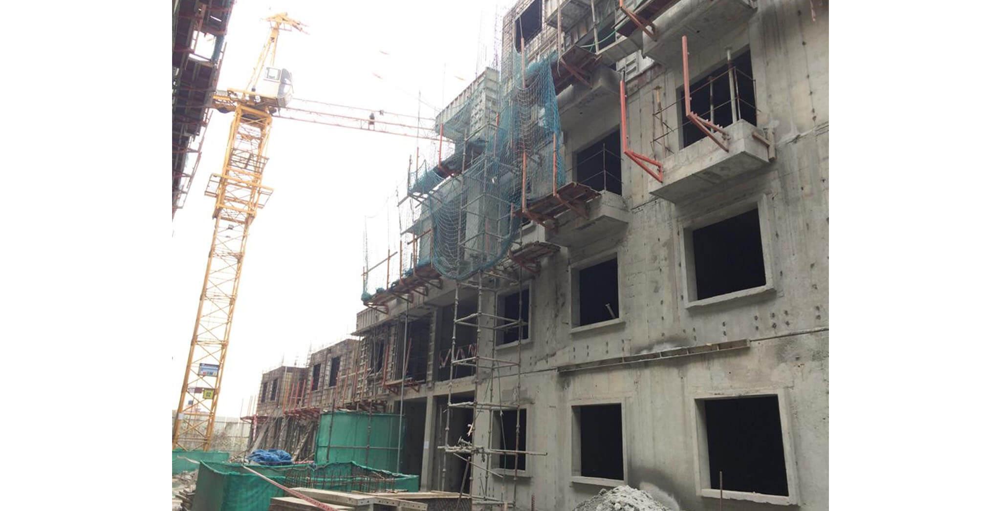 Feb 2020 - P Block: Second and Third floor slab work-in-progress