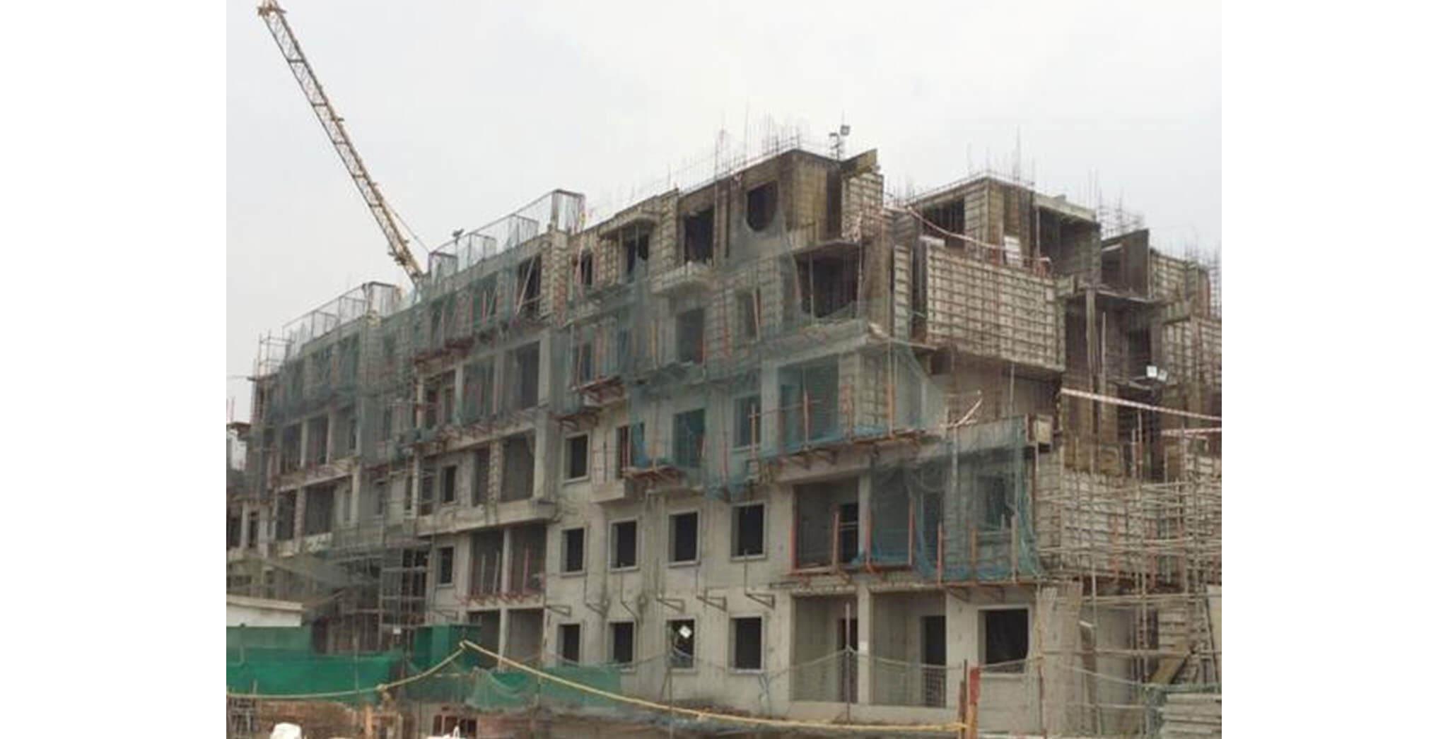 Feb 2020 - O Block: Terrace floor slab complete