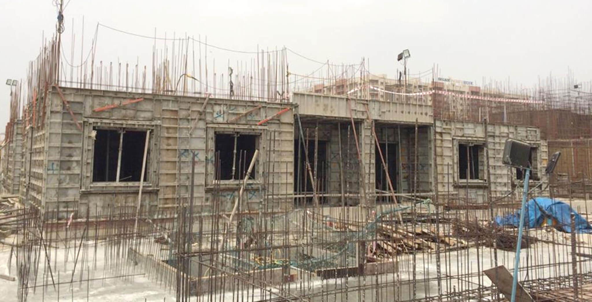 Feb 2020 - G Block: First floor slab work-in-progress