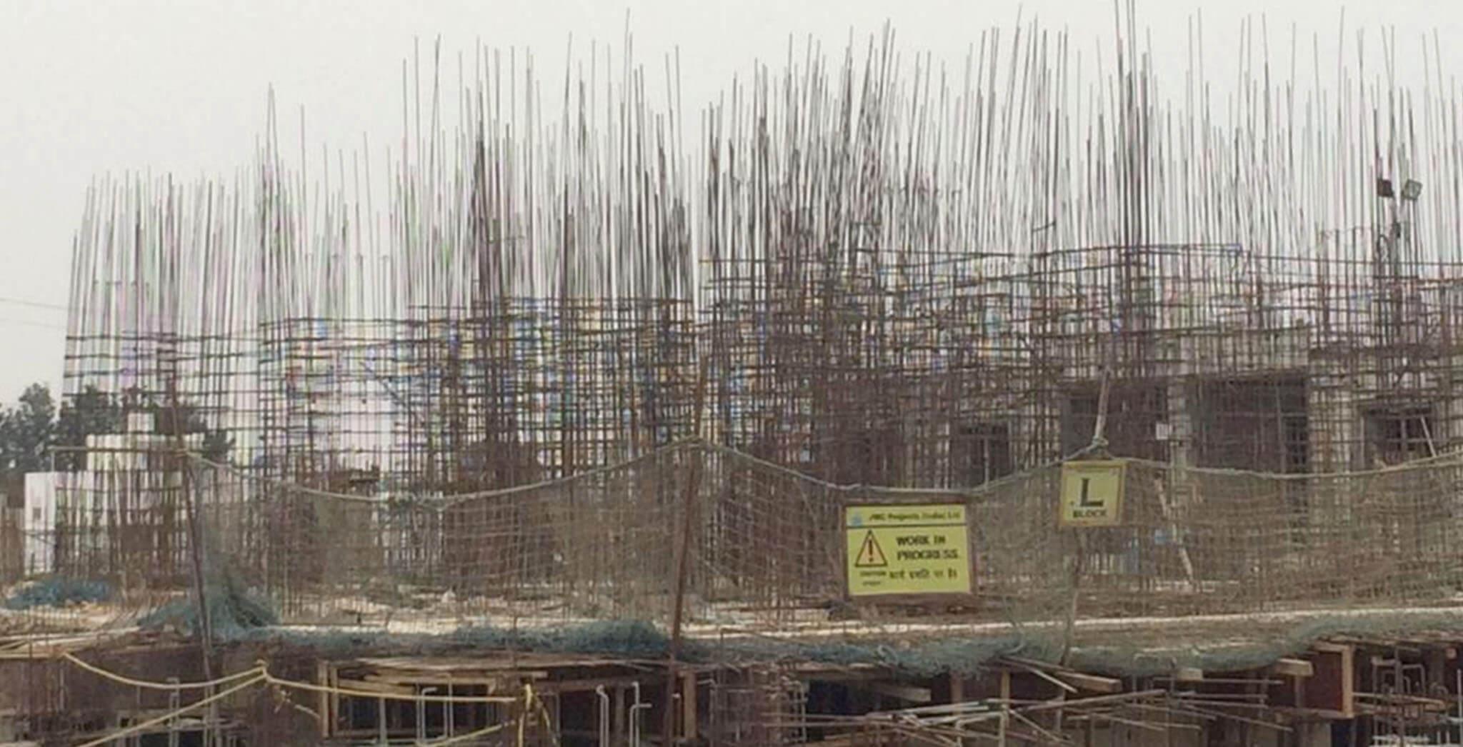 Feb 2020 - L Block: Ground floor slab in progress