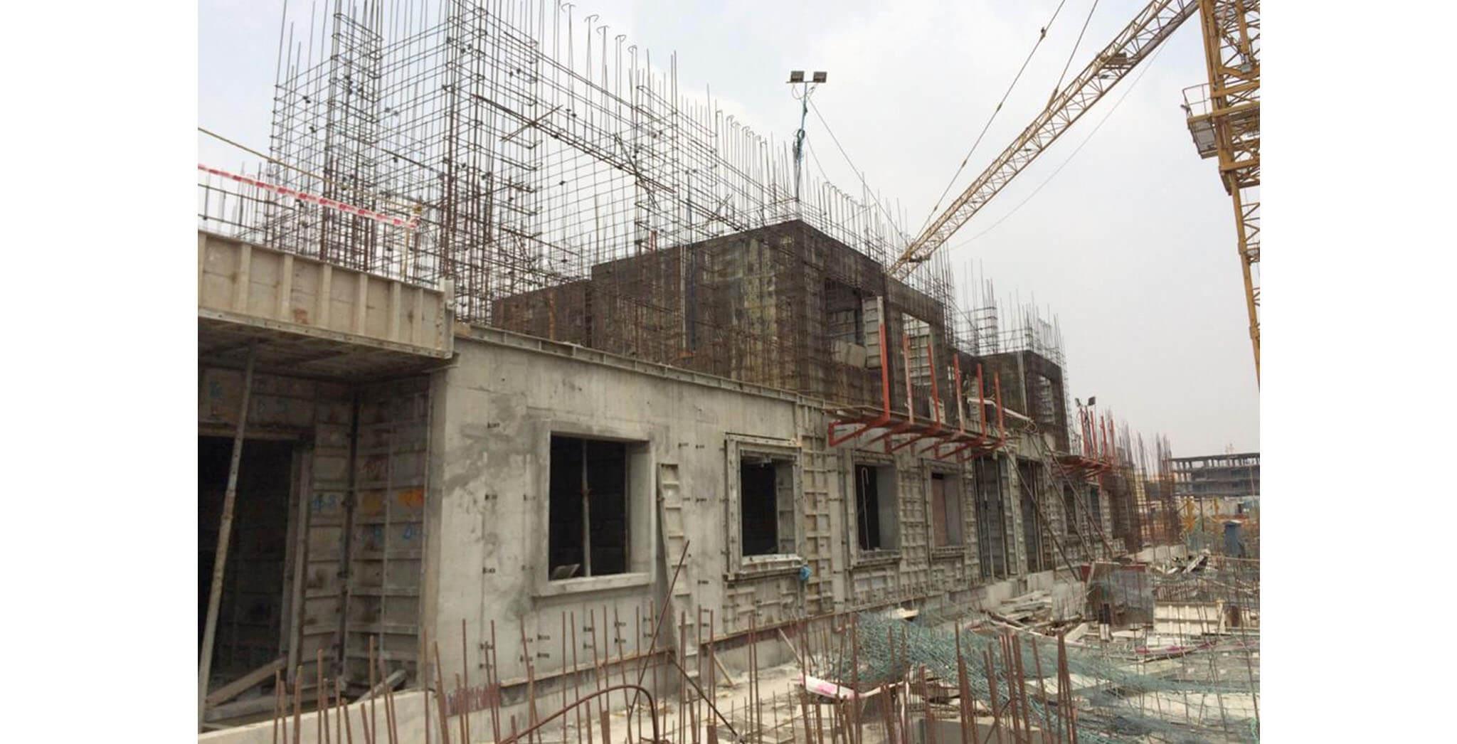Feb 2020 - F Block: First floor slab work-in-progress
