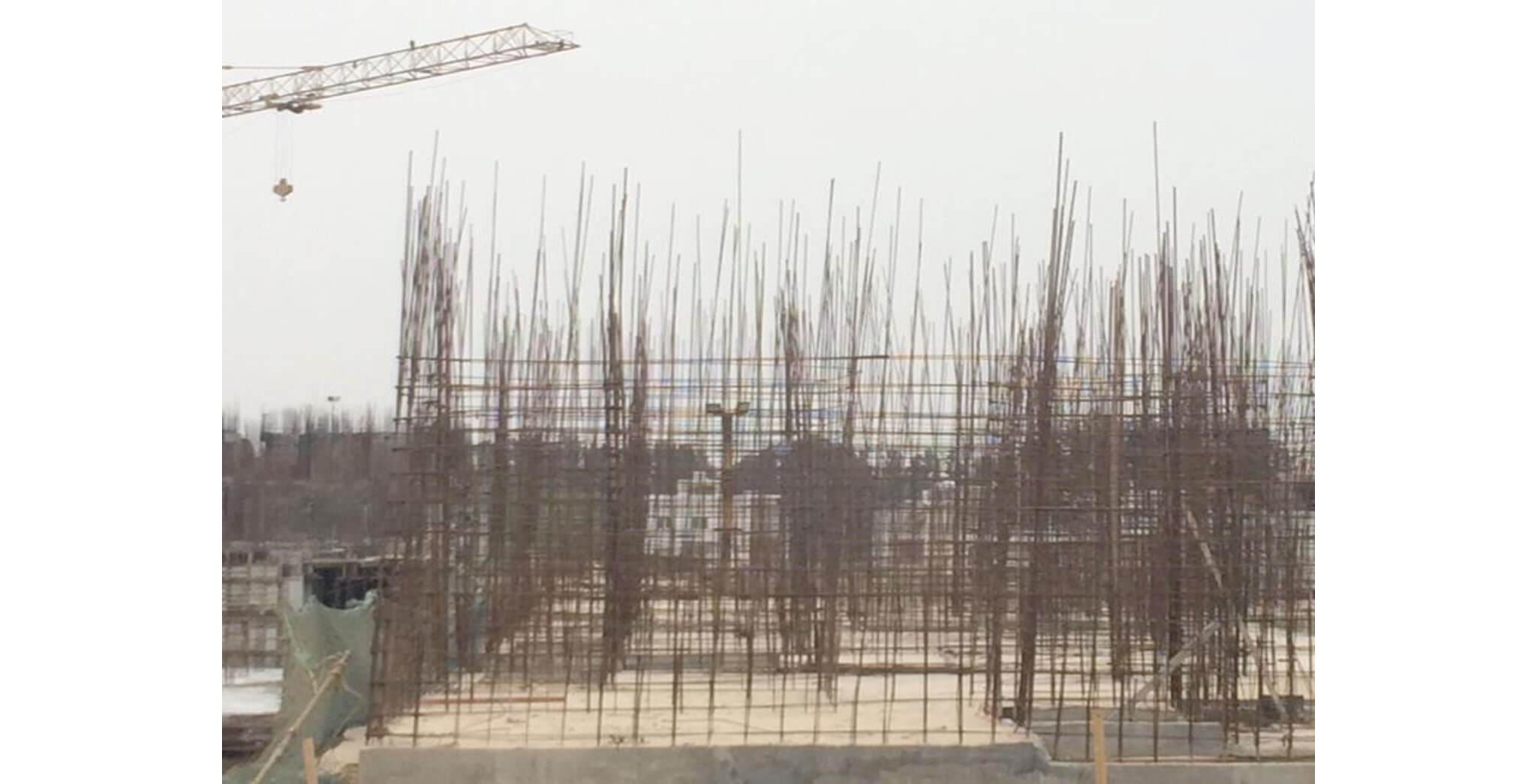Feb 2020 - B Block: Ground floor slab completed