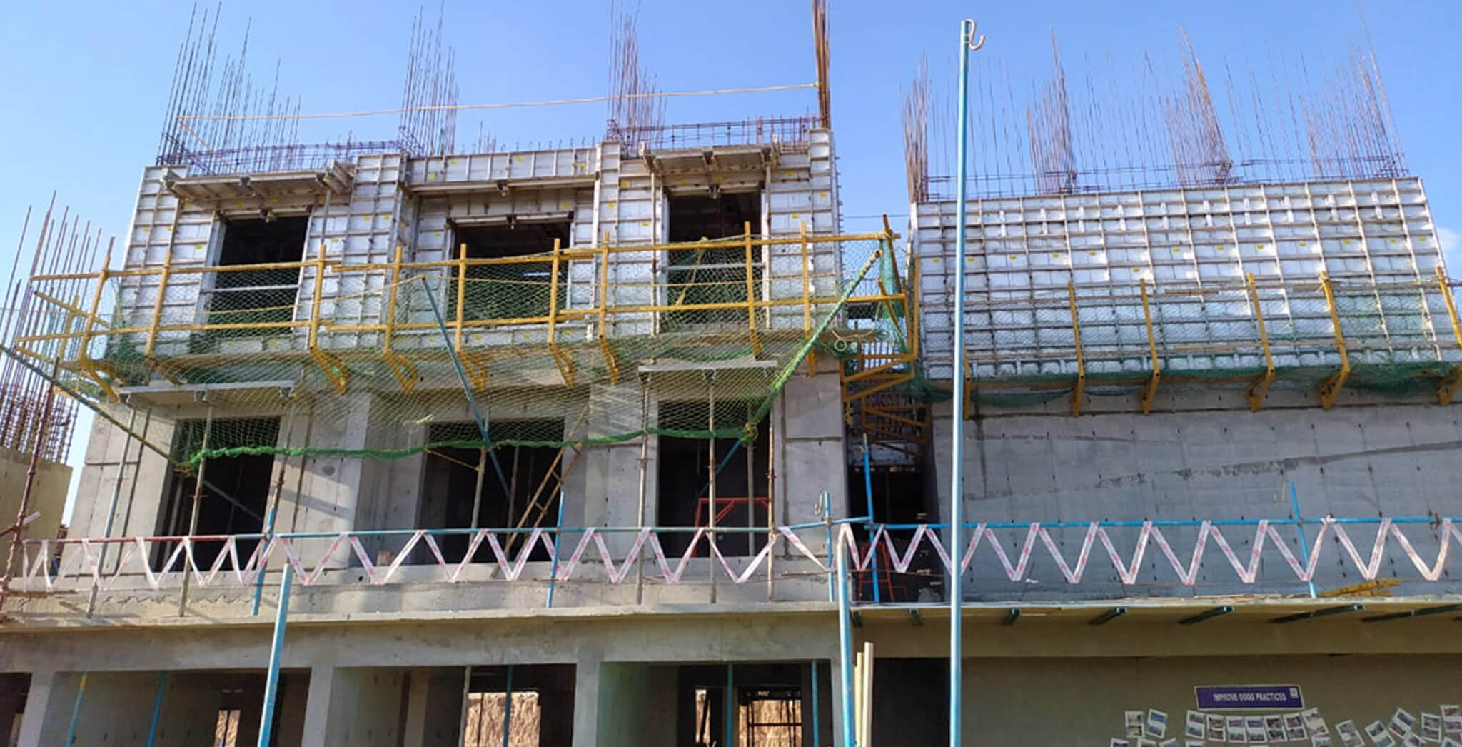 Apr 2020 - Gallium Block: Ground floor 3 units concreting completed and first floor units are in progress