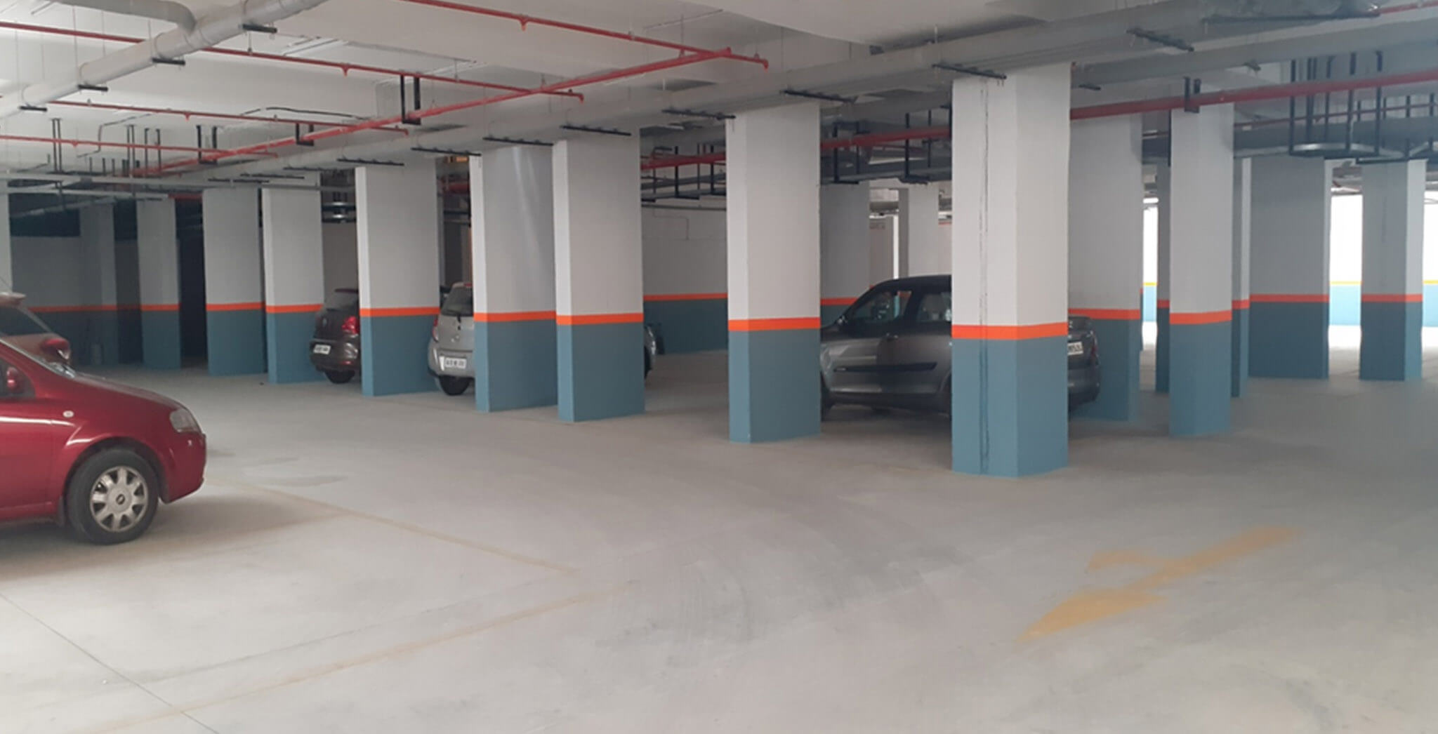 Mar 2020 - Plumeria phase 1: Basement—painting and  car park marking completed