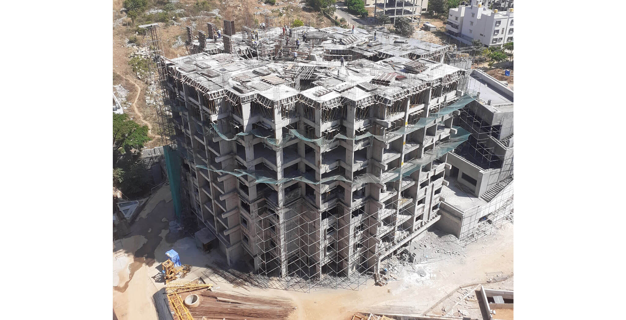 Mar 2020 - Tower A: 9th floor slab completed