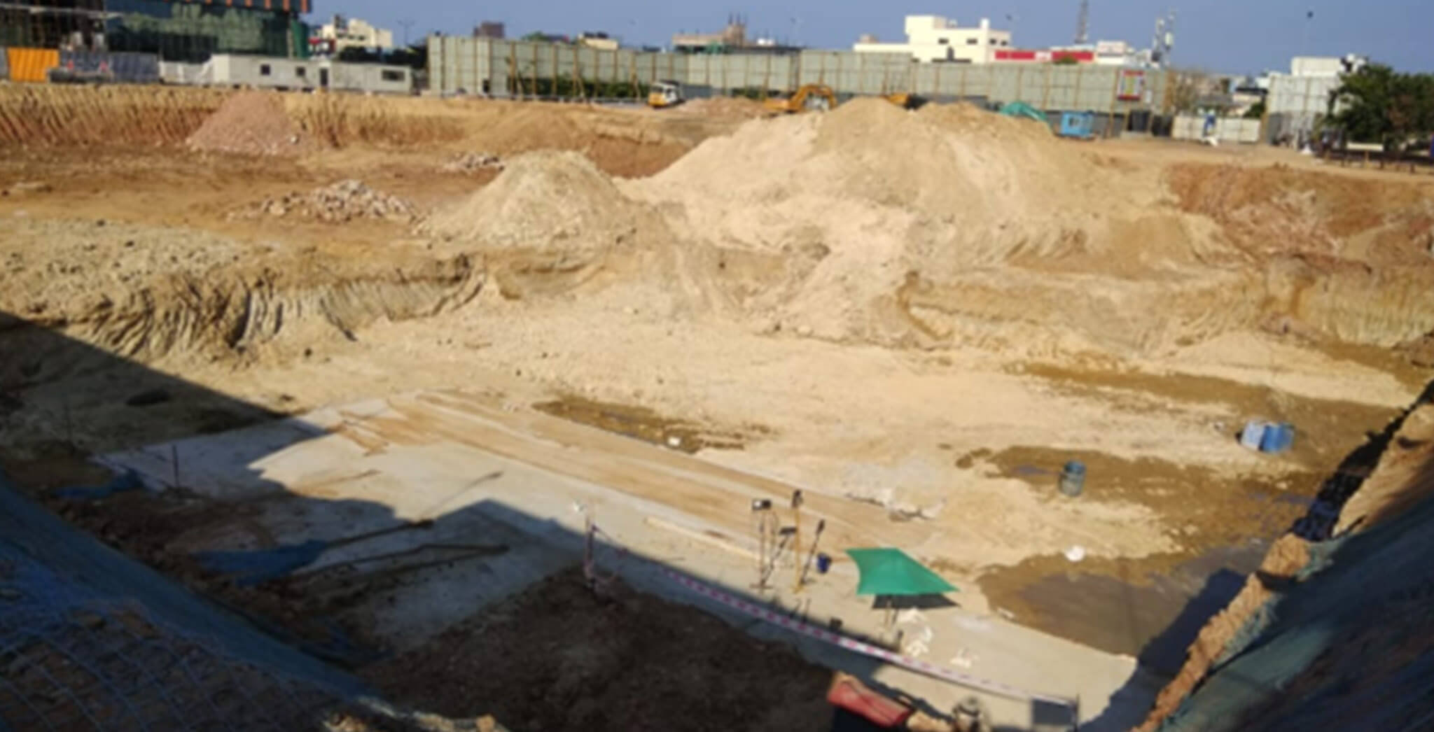 Apr 2020 - Tower Astra: Excavation work completed