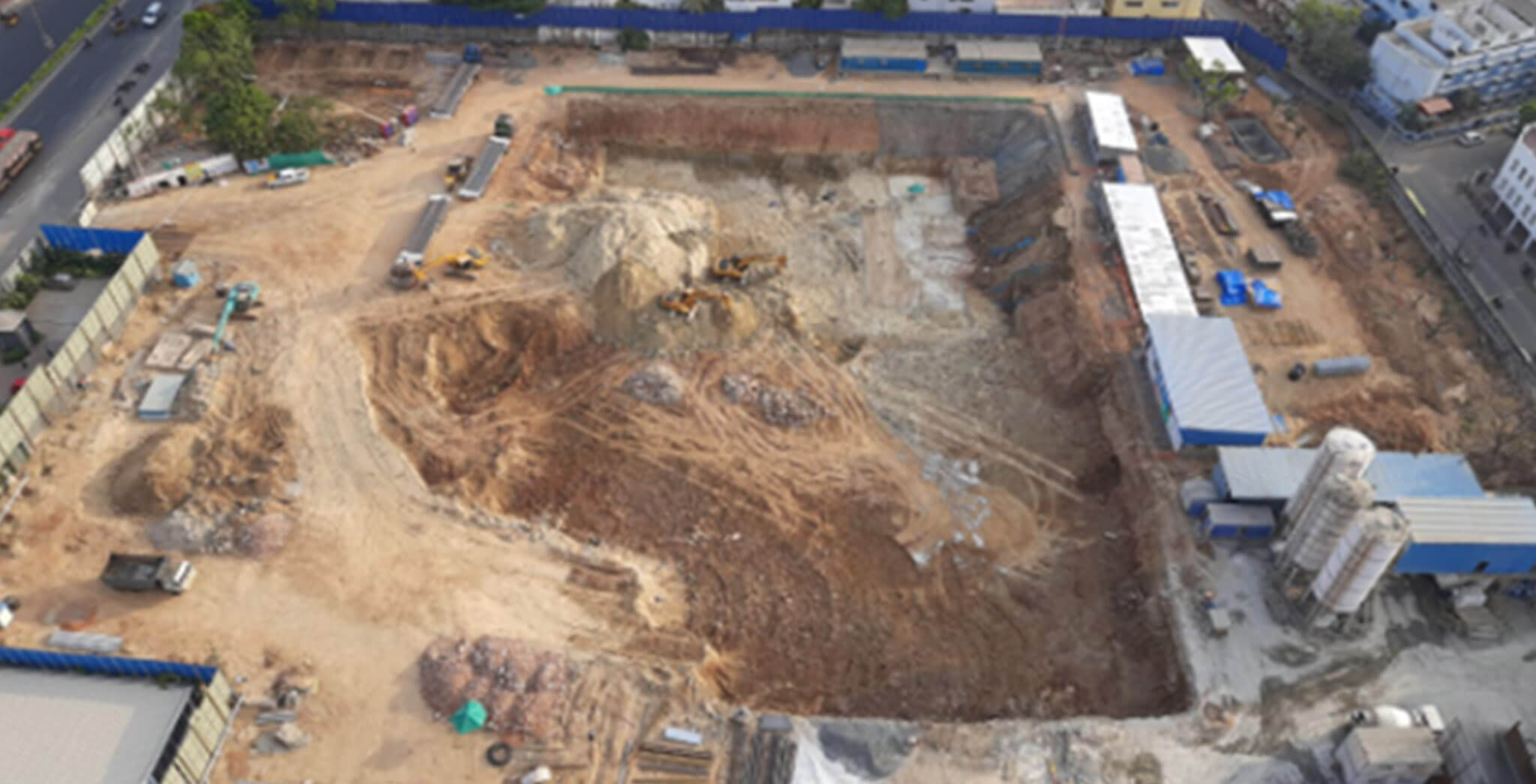 Mar 2020 - Clubhouse Tower: Excavation under progress (40,800 Cum completed till now)