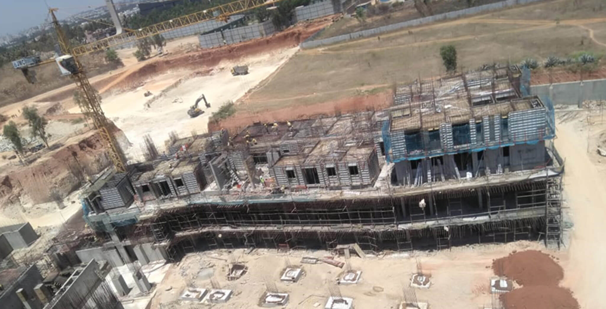 Mar 2020 - Eden—Tower A: First floor slab 66% completed; Part of the second floor slab work-in-progress