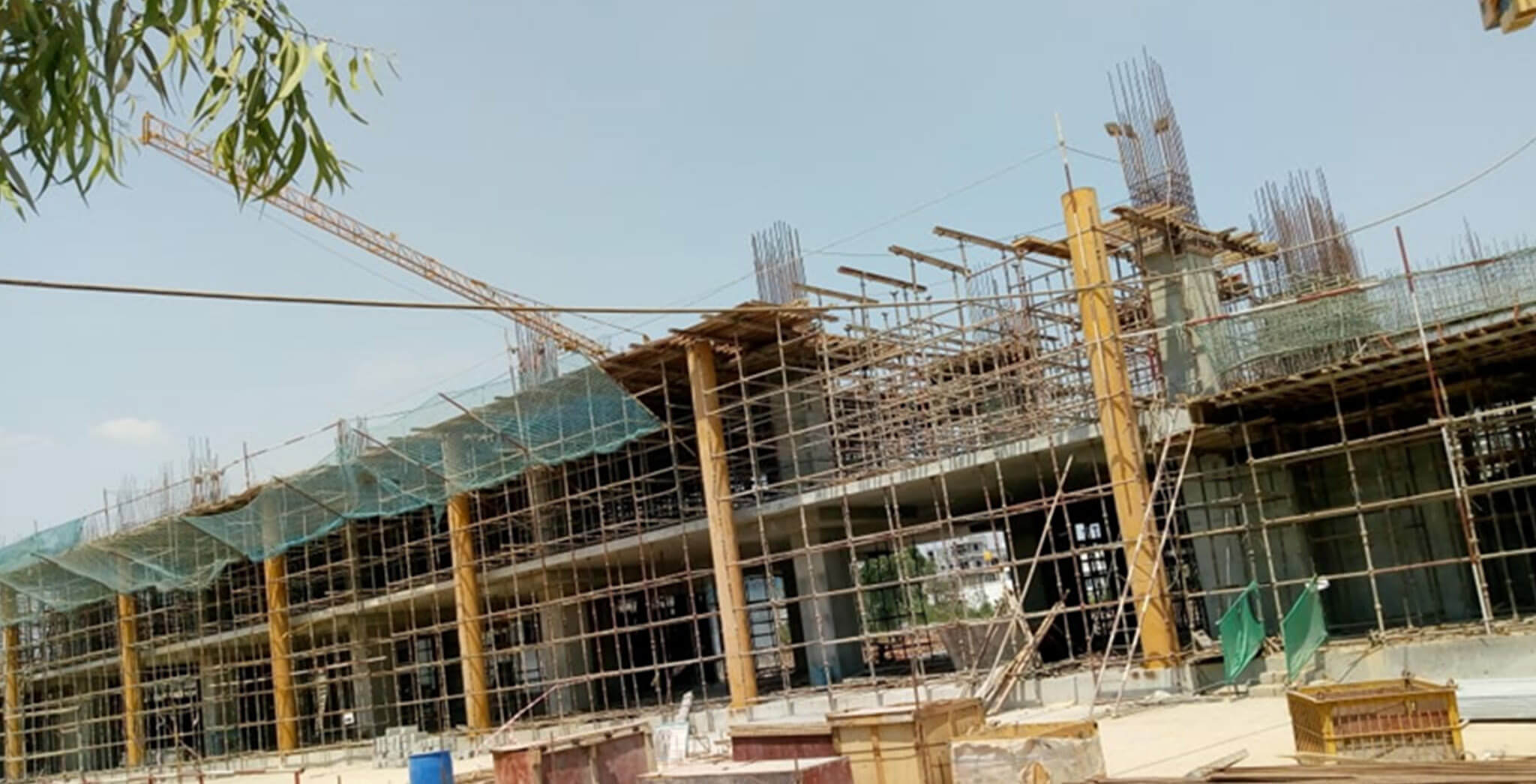 Mar 2020 - Eden—Tower D: Second floor slab 50% completed