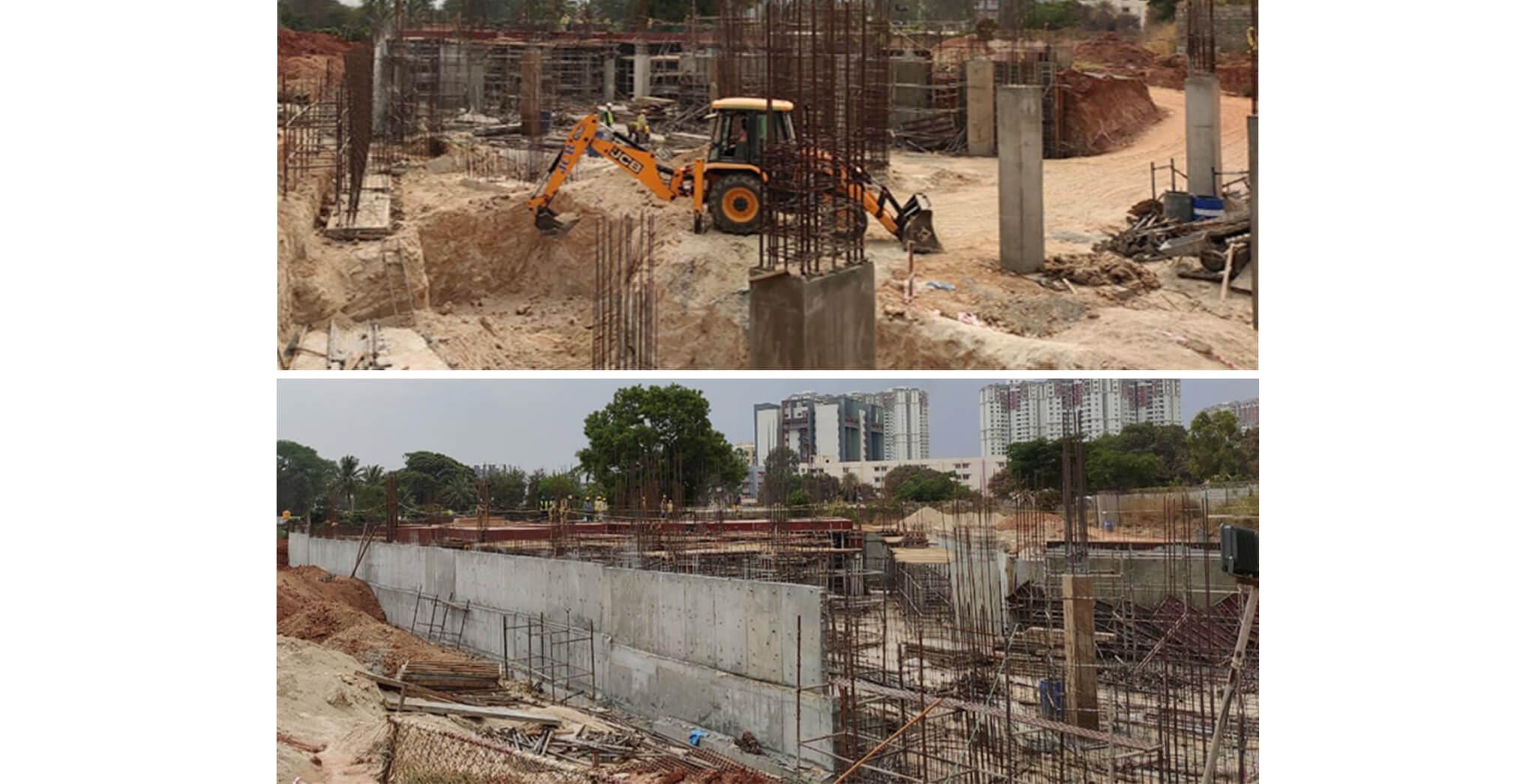 Mar 2020 - Oasis—Club House: Ground floor slab shuttering work-in-progress