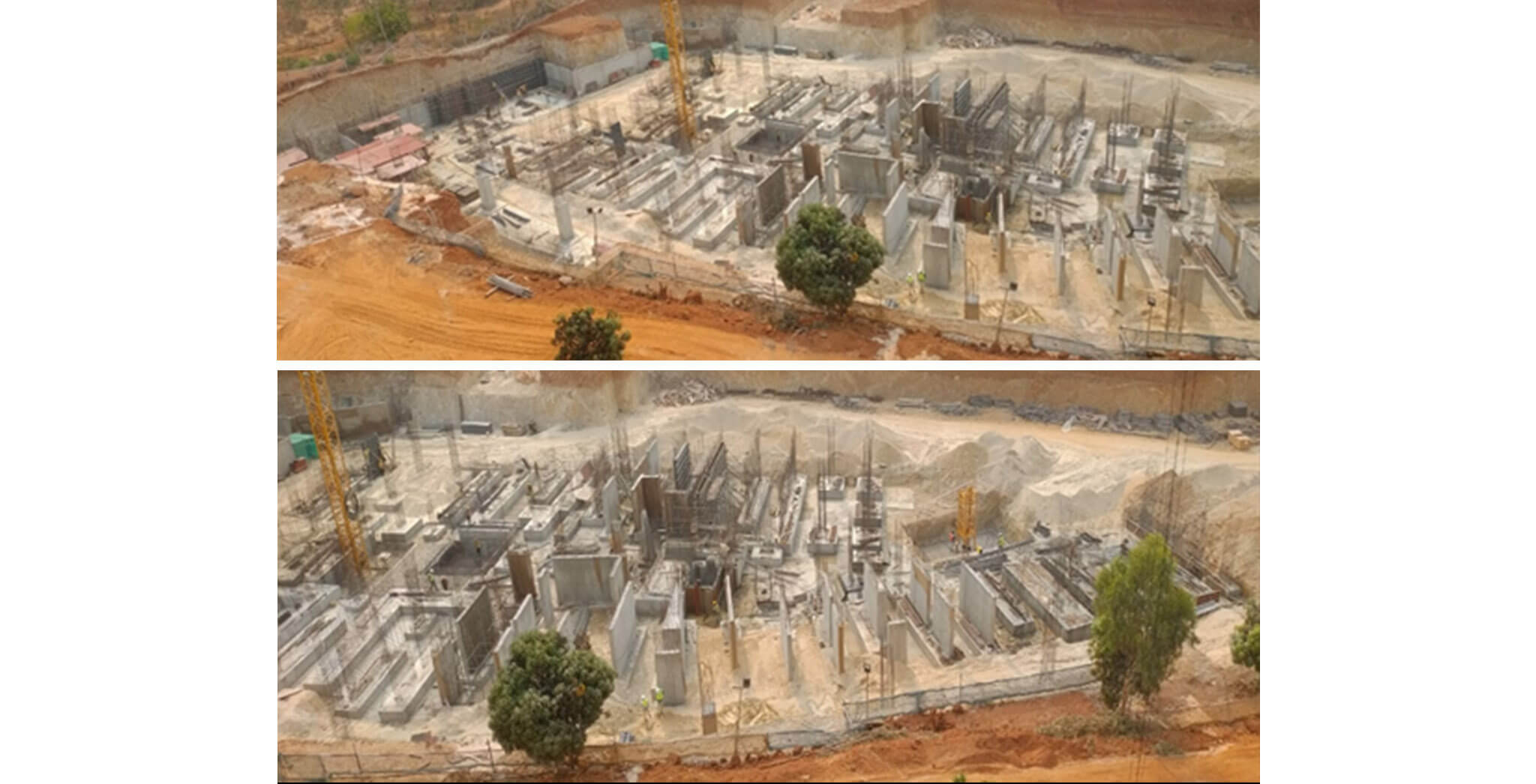 Mar 2020 - Halcyon: Foundation work of Tower I and J in progress