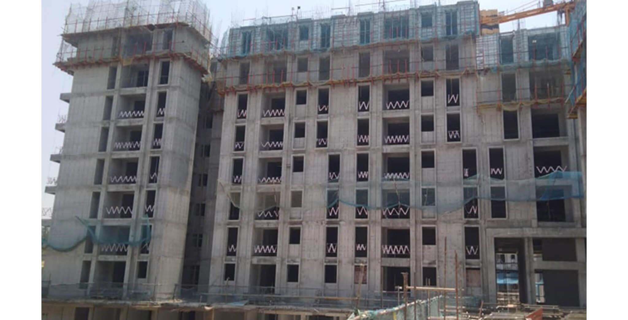 Mar 2020 - Serene—Tower H: 8th floor slab sork completed & 9th floor slab work-in-progress