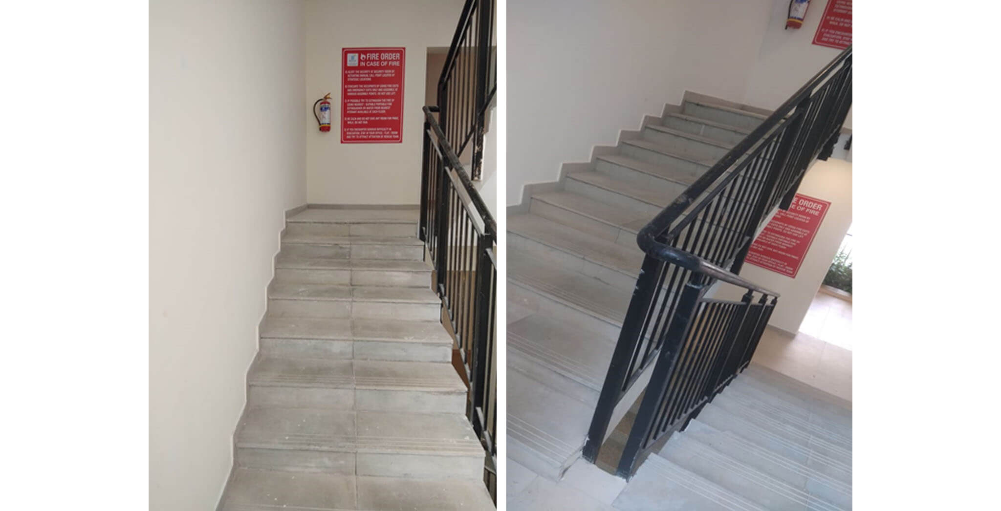May 2020 - Deodar—B block: Staircase—Final coat painting in progress