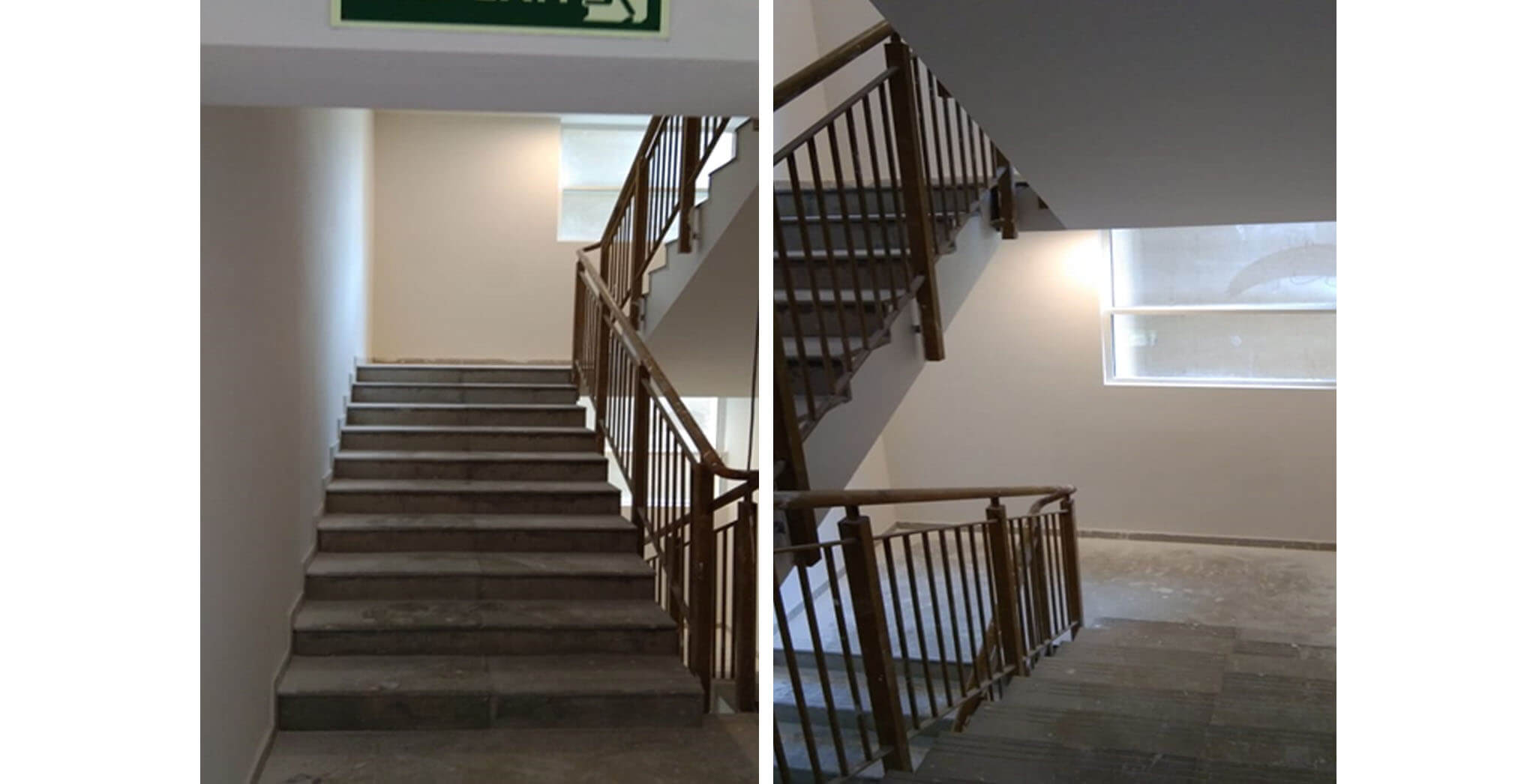 May 2020 - Deodar—D block: Staircase–Final coat painting in progress