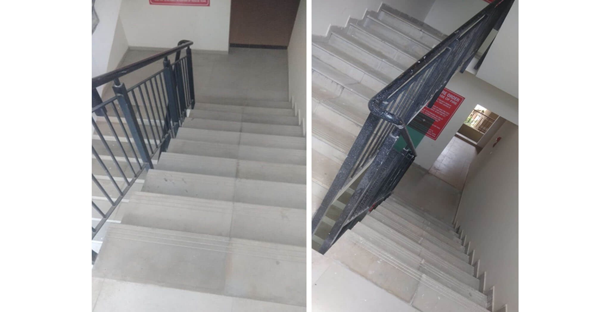 May 2020 - Deodar—E block: Staircase–Final coat painting in progress