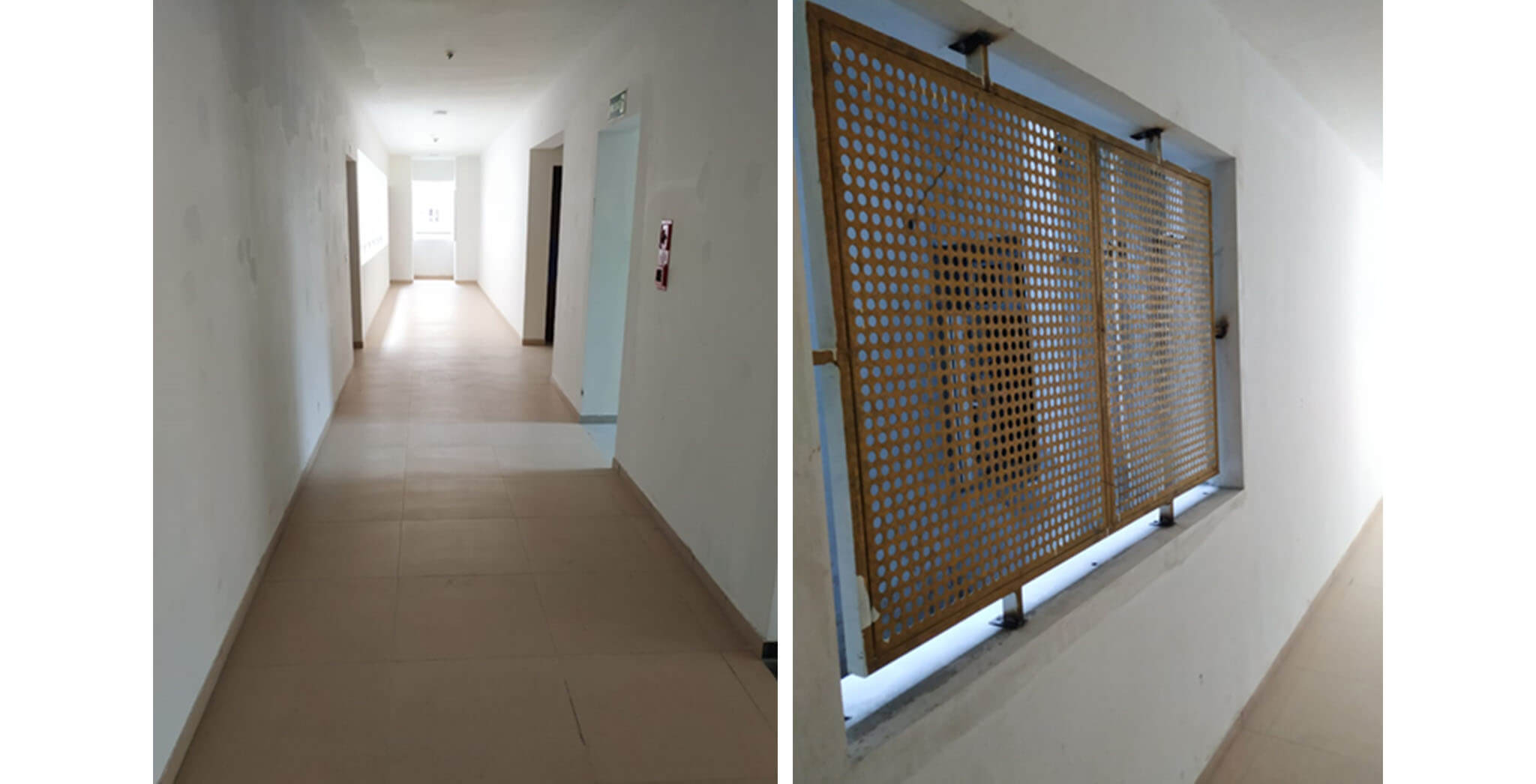 May 2020 - Deodar—F block: Corridor–Final coat painting in progress