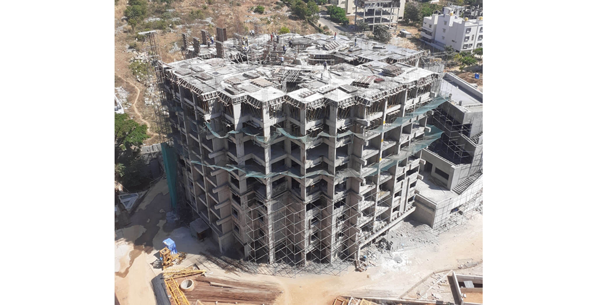 May 2020 - Tower A: 9th floor slab completed