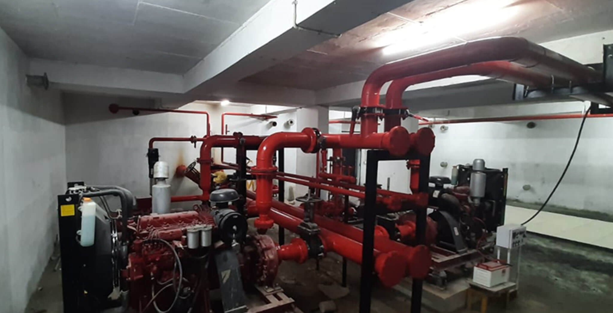 May 2020 - Pump room: Fire fighting pumps fixing completed