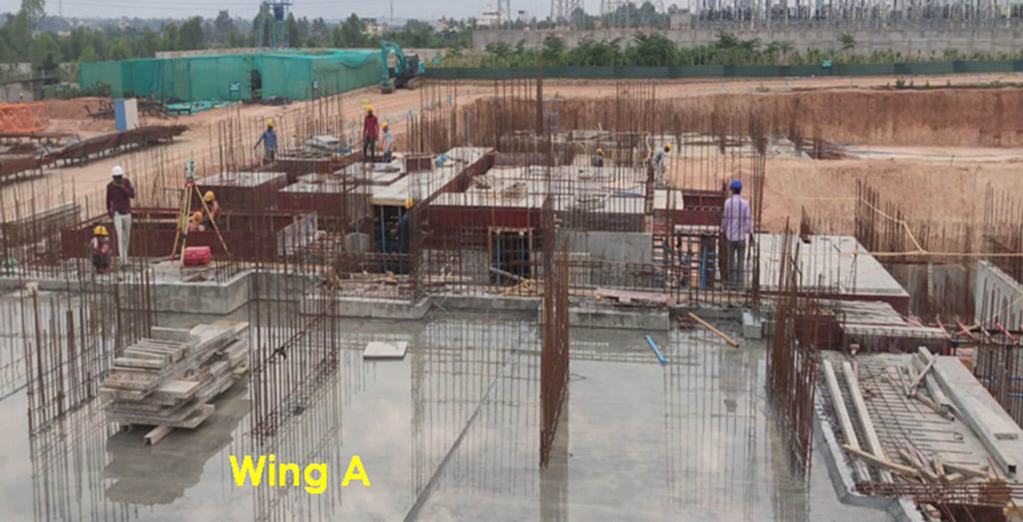 Wing A—Basement floor slab milestone achieved - Status Images 2