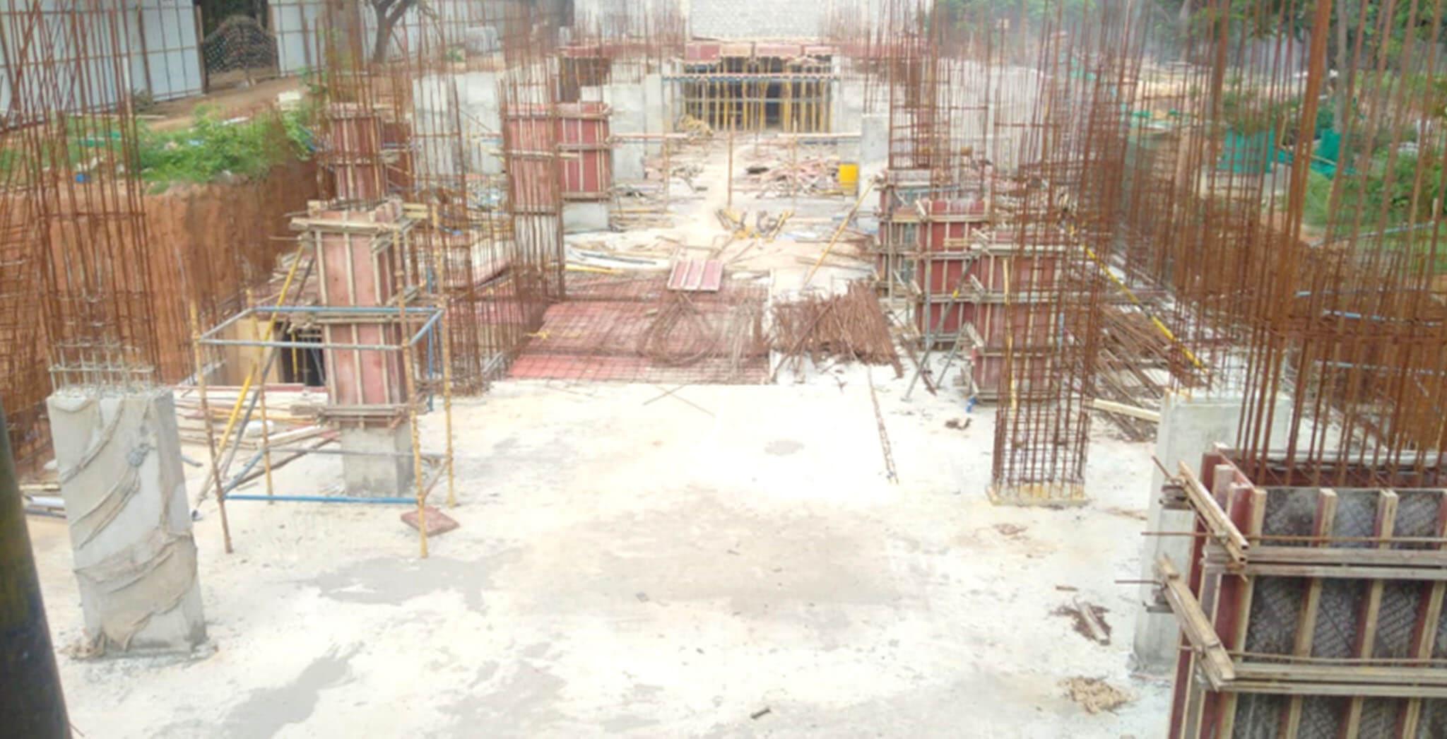 Jun 2020 - C Block: Stilt floor to ground floor column work-in-progress.