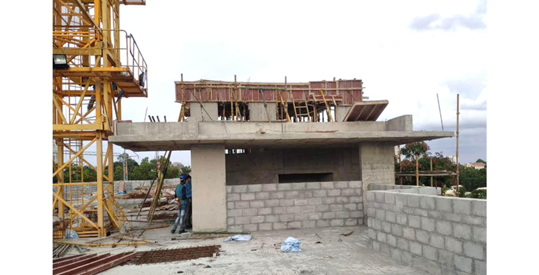 Jun 2020 - K Block: Above Terrace floor LMR top slab concreting completed; Block work completed up to 4th floor; Internal plastering work completed up to 3rd floor; 4th floor water proofing work-in-progress.